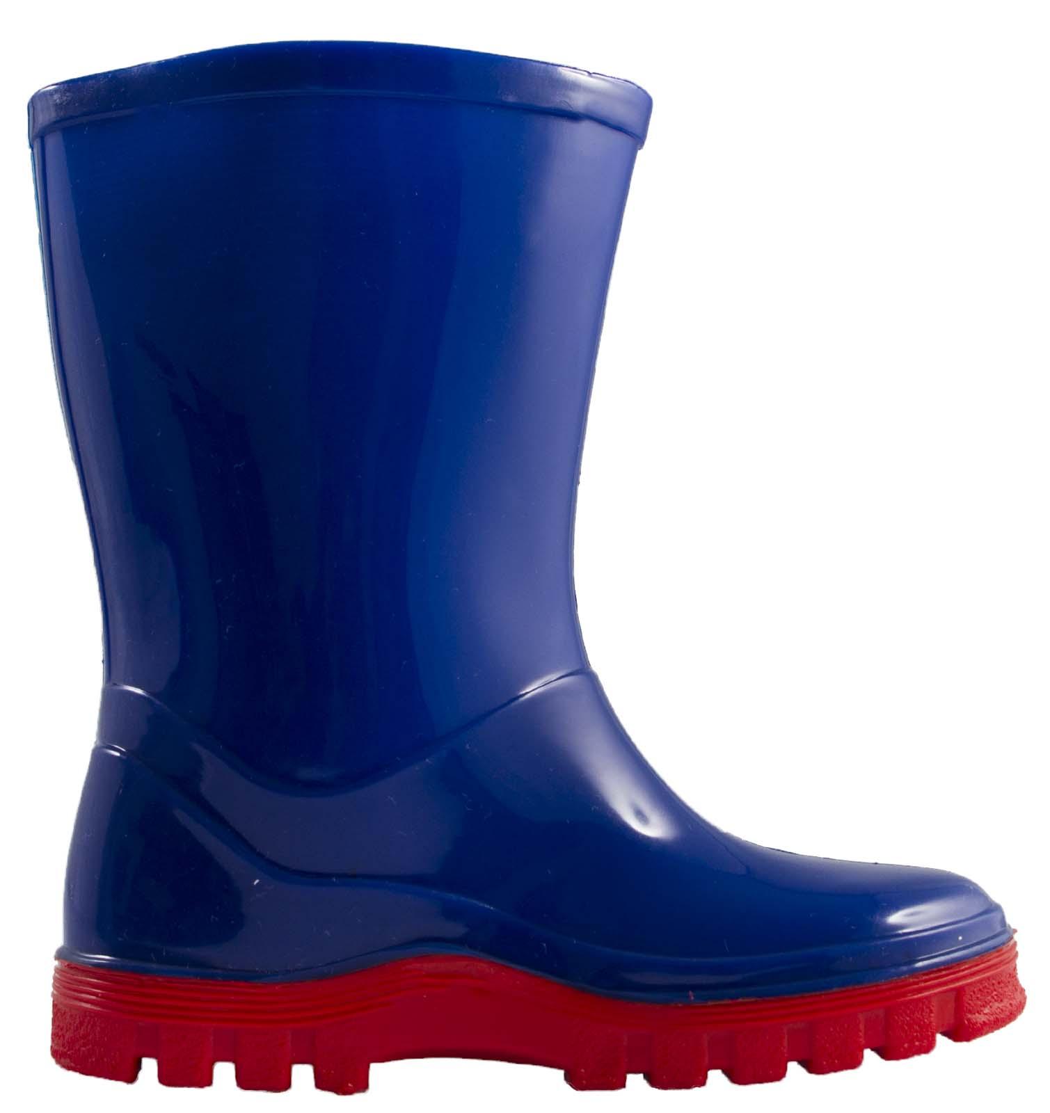 7edc77ec57 Details about Boys Paw Patrol Wellington Boots Blue Rain Wellies Mid Calf  Snow Boots Kids Size