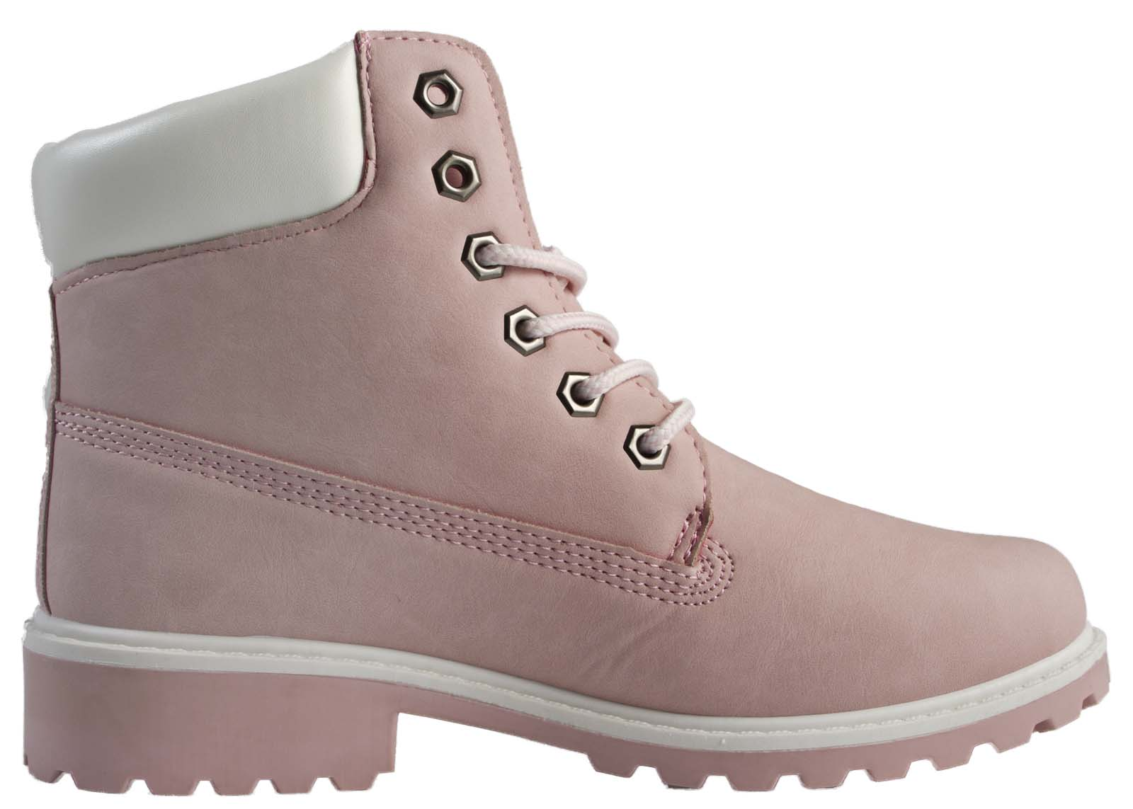 Details about Boys Girls Faux Leather Worker Ankle Boots Winter Military  Combat Shoes Size