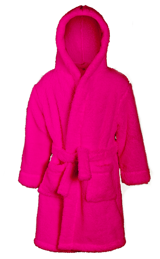 Girls Snuggle Dressing Gown Supersoft Fleece Bath Robe Hooded ...