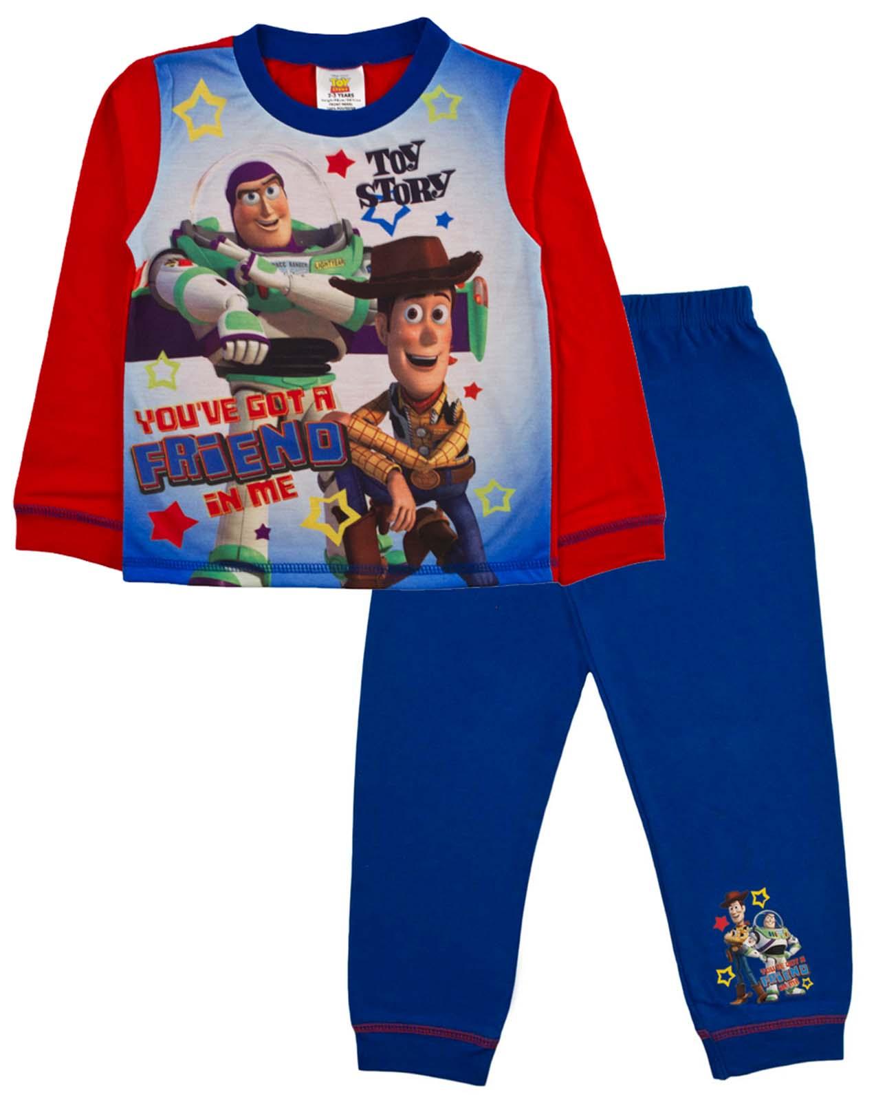 09158cb3ed Kids Boys Official Disney Toy Story Buzz Woody Pyjamas PJ s Set Size ...