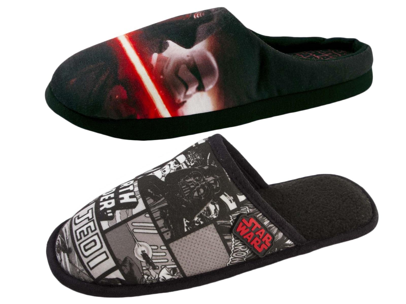 c1cf4af1ff Mens Star Wars Slippers Darth Vader Storm Trooper Novelty Mules Xmas Gift  Size
