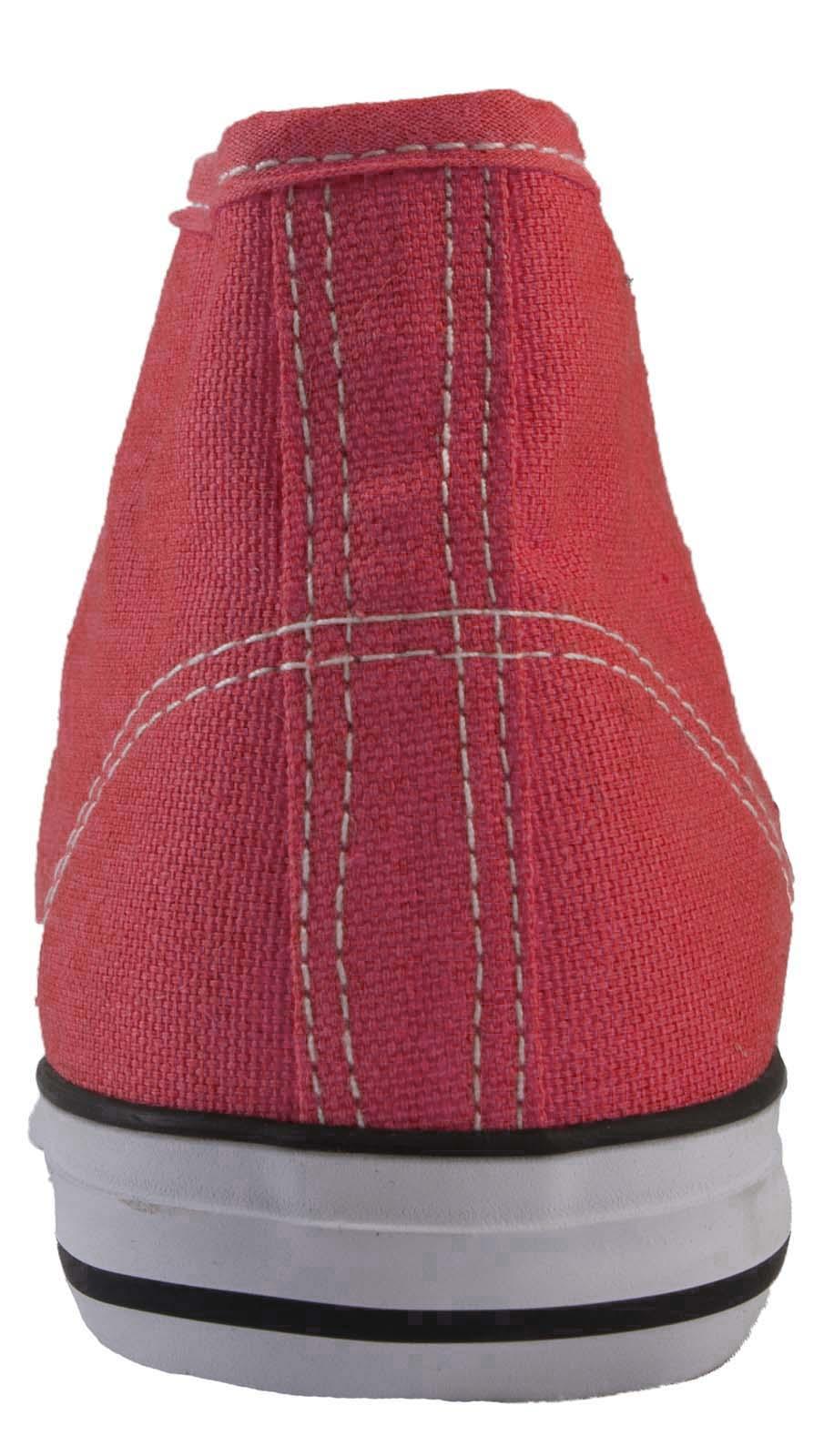 Hombre Mujer Lona Zapatos Hi Tops Botas al tobillo con Cordones Bombas Deportes Entrenadores Talla