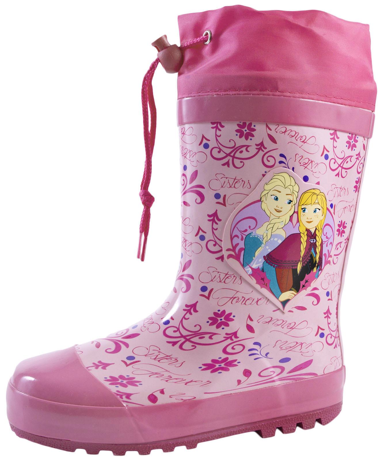 Wellington boots Trolls Tie Top girls wellies dark purple