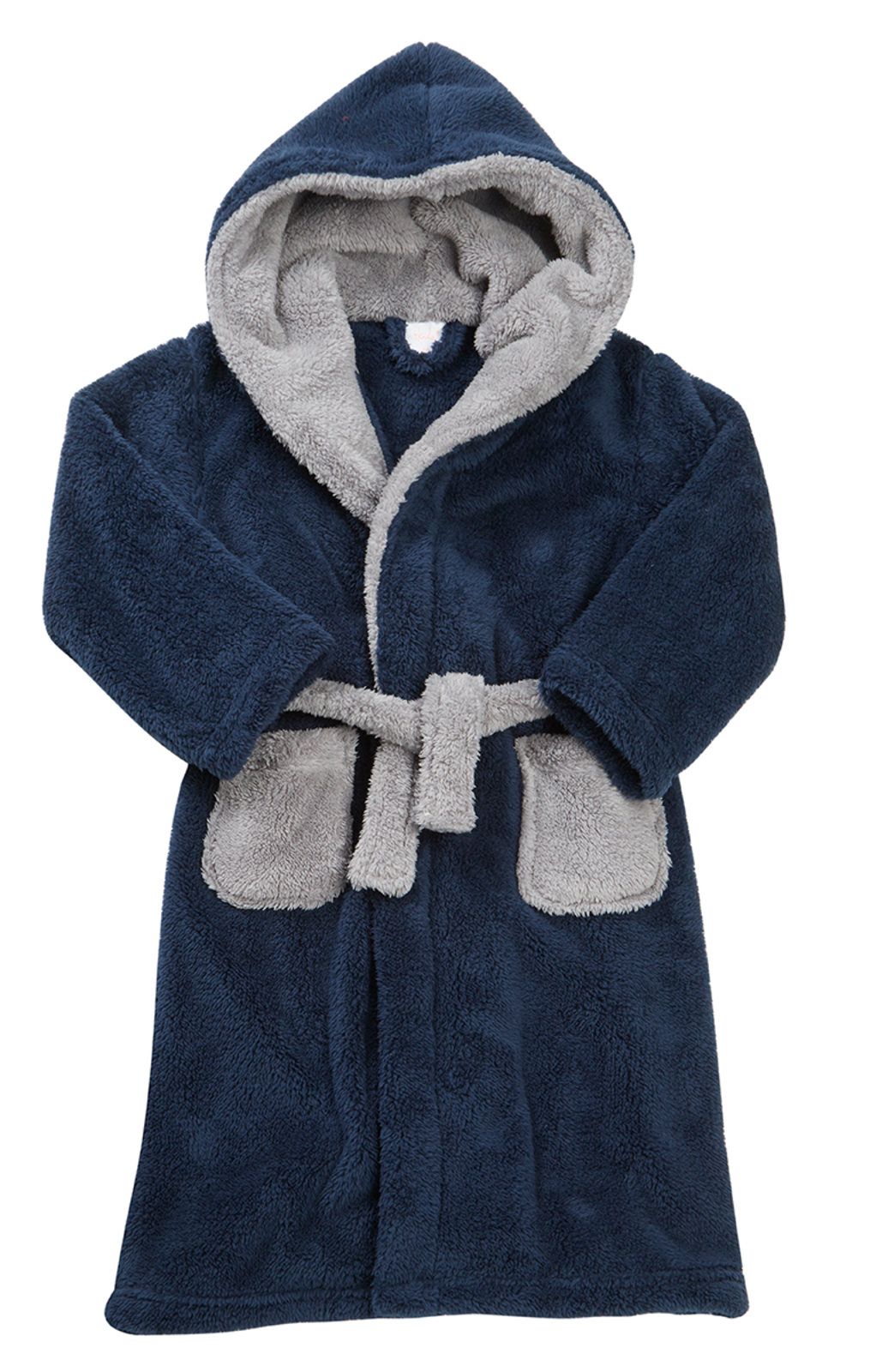 Boys Luxury Fleece Dressing Gown Soft Hooded Bath Robe Housecoat ...