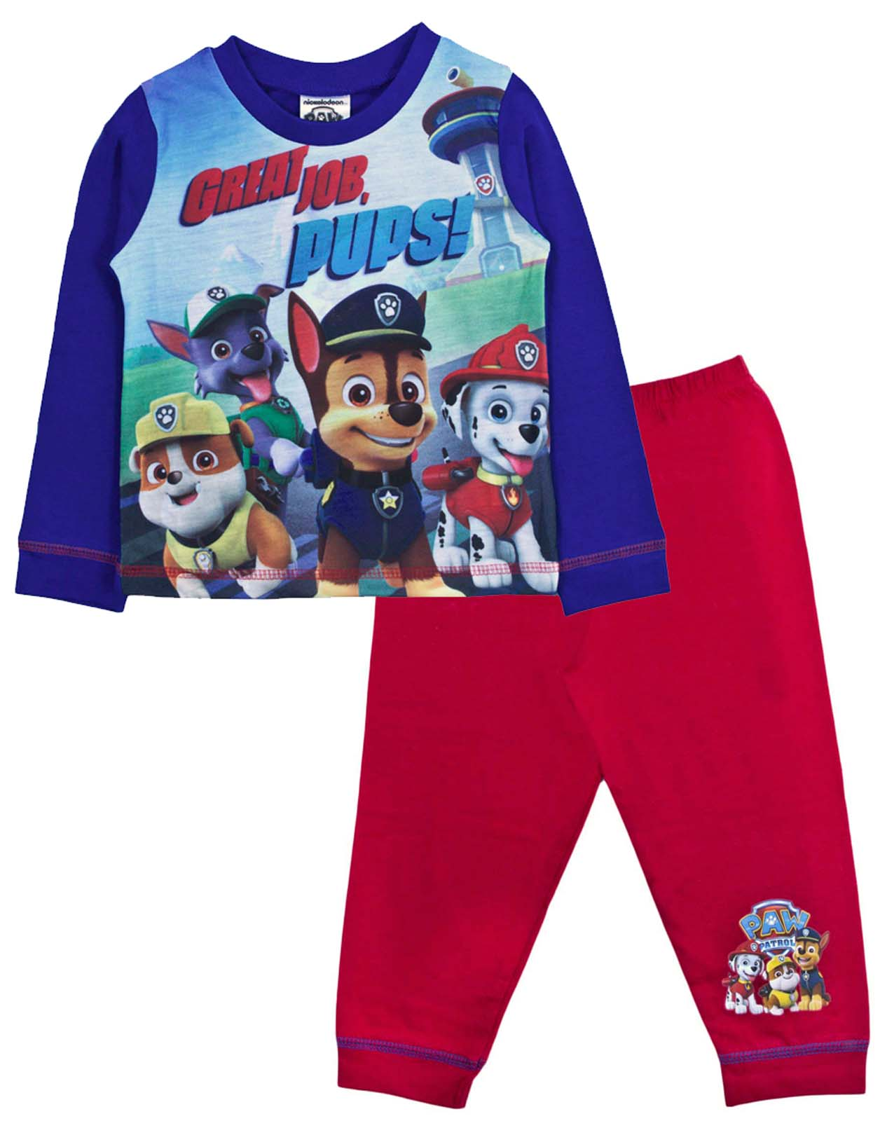 Paw Patrol Nightwear Set 18-24 months Boy/'s Pyjamas /& Dressing Gown  Nickelodeon