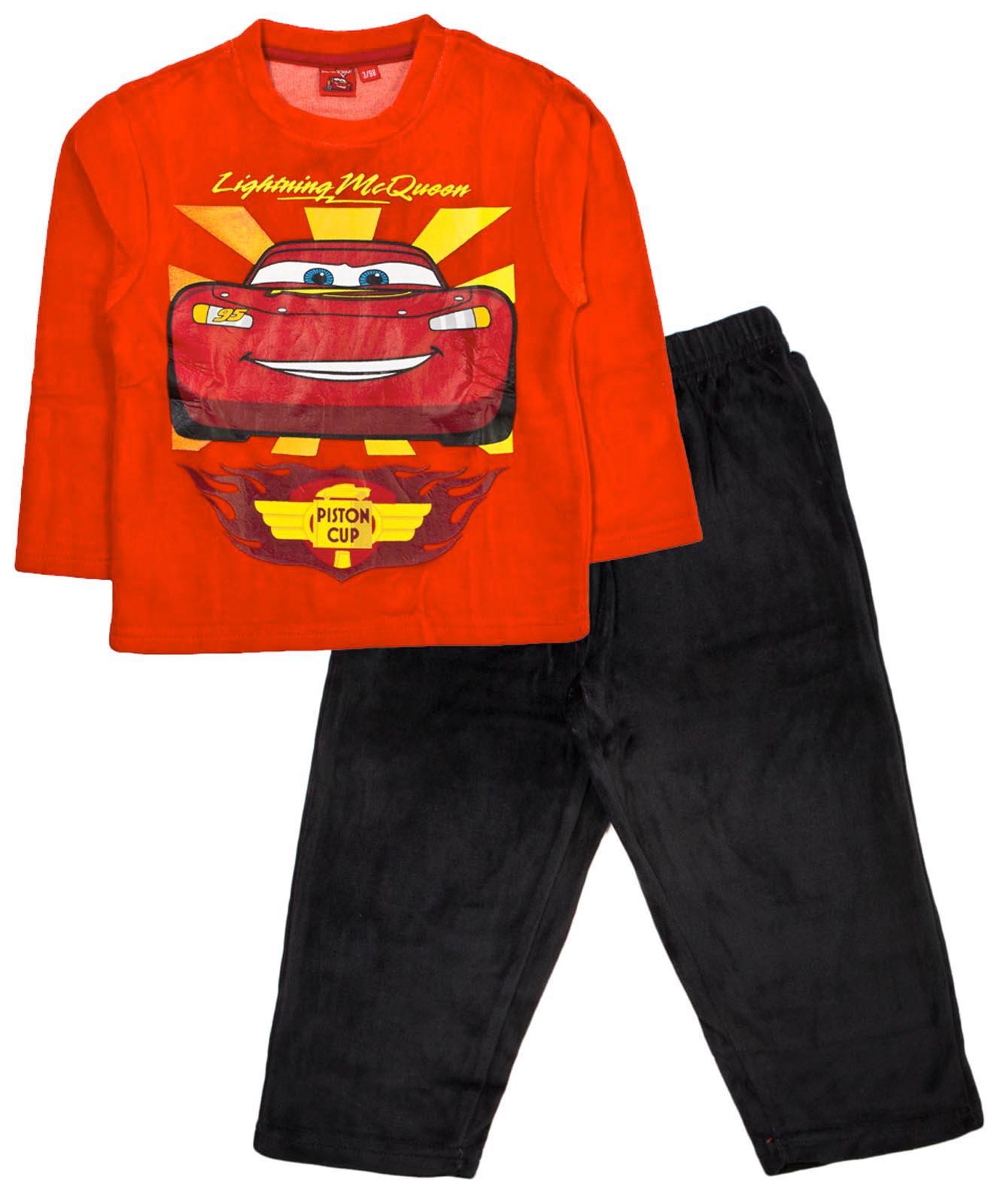 Disney Cars Lightning McQueen Pyjamas Warm Winter Velour Pjs 2 Piece Boys  Size 7f7dc3cc2