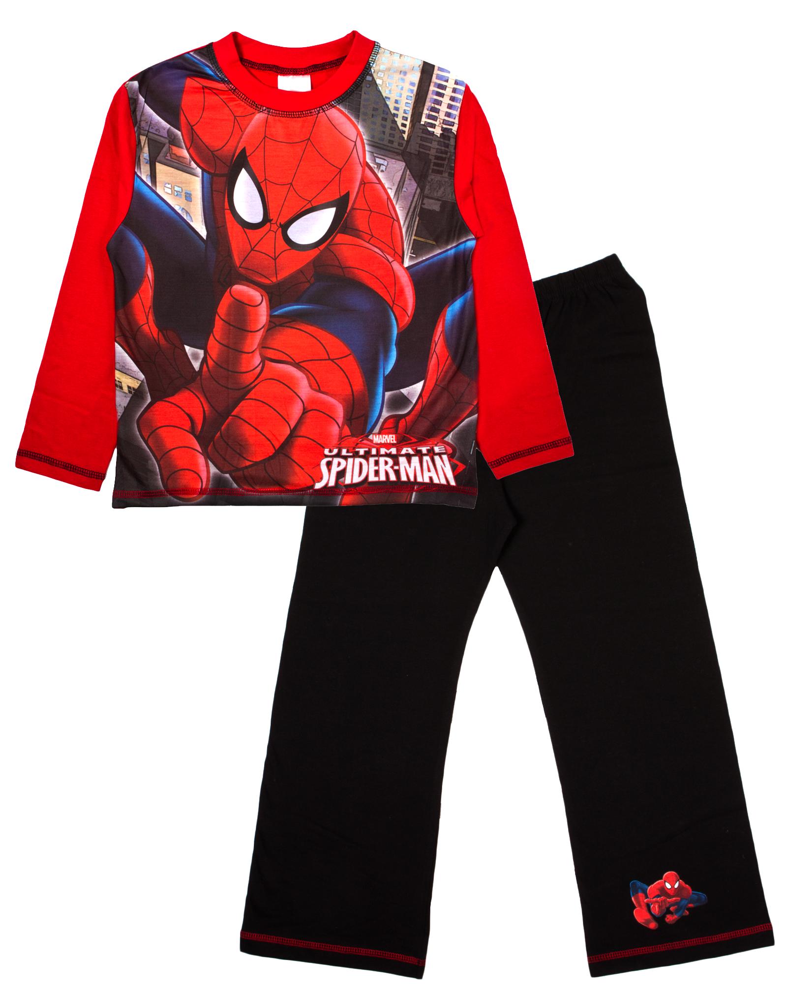 6198277fce00 Kids Boys Pyjamas Marvel Spiderman Pyjama Set 2 Piece Pjs Long Size ...