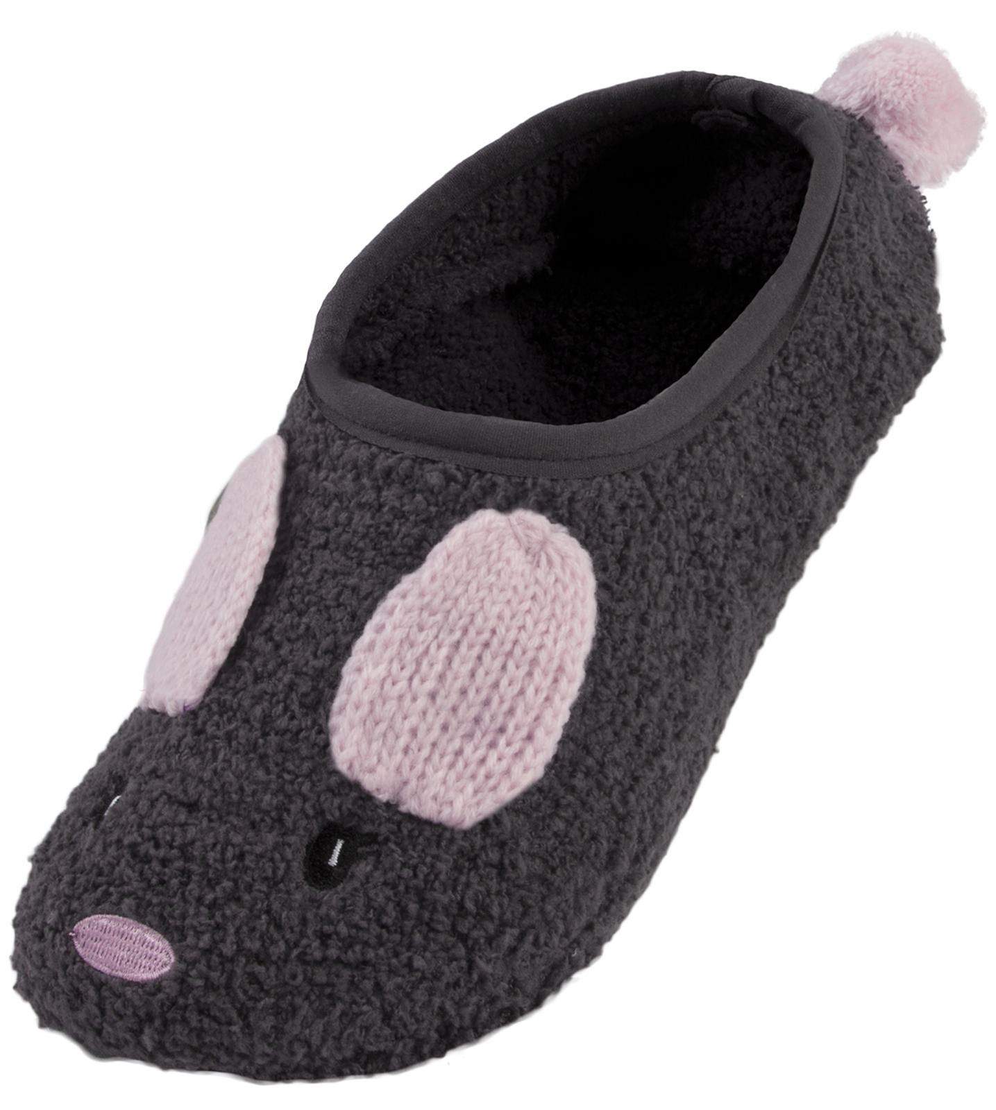 Womens 3D Animal Footlets Slipper Socks Novelty Fleece Bed Socks