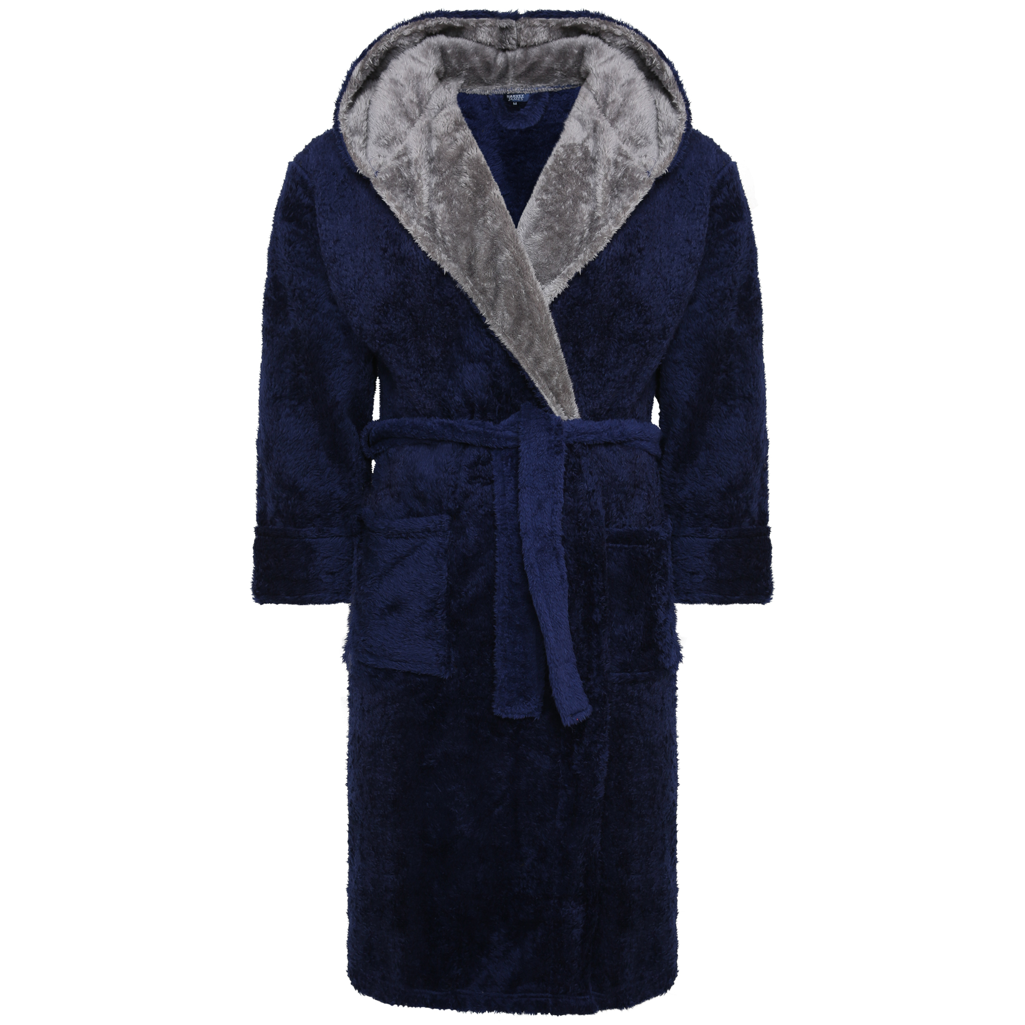 House Coat: Luxury Mens Contrast Collar Dressing Gown Bath Robe House