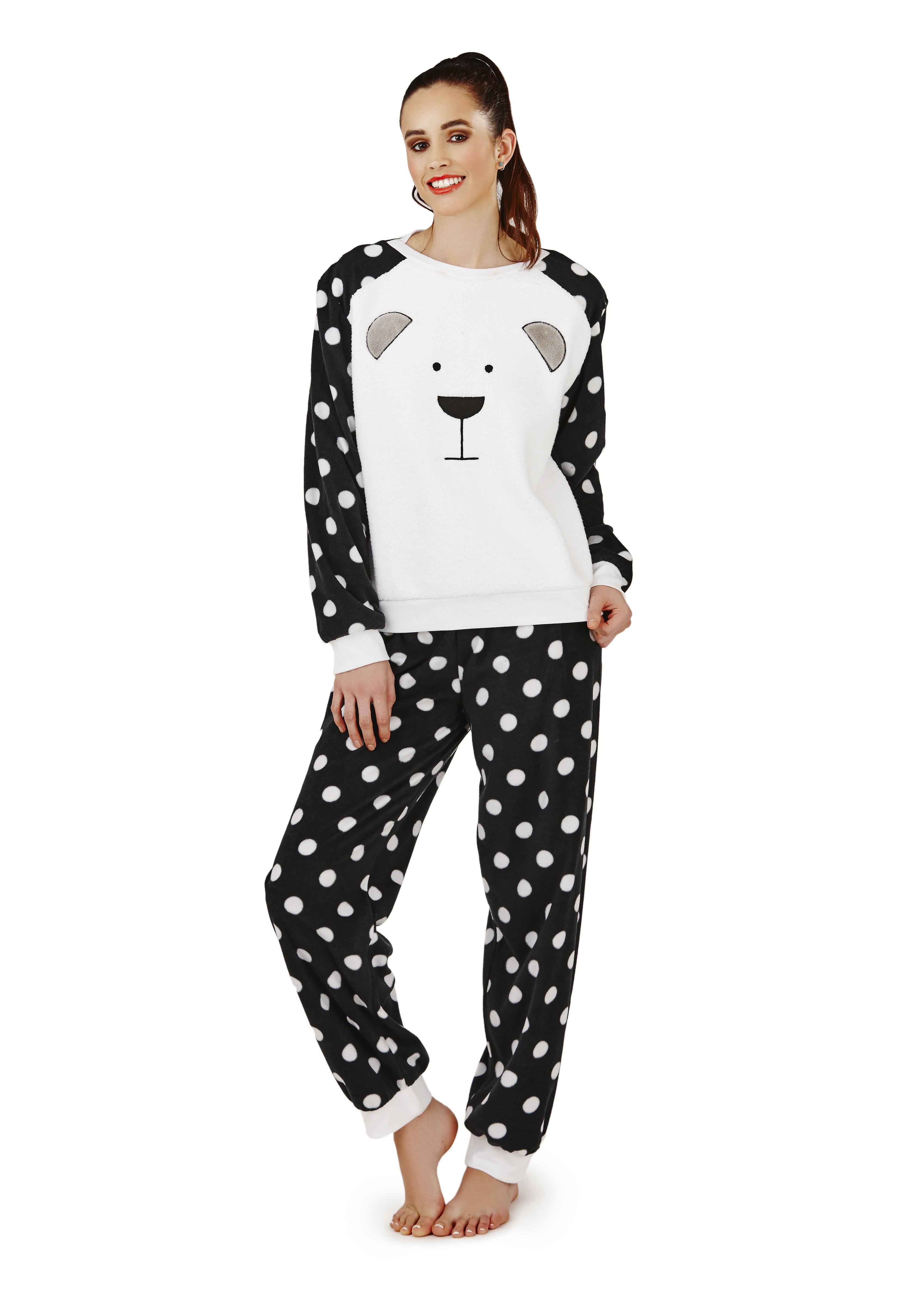 womens twosie nightwear fleece lounge pants jumper lounge set pjs pyjamas ladies ebay. Black Bedroom Furniture Sets. Home Design Ideas