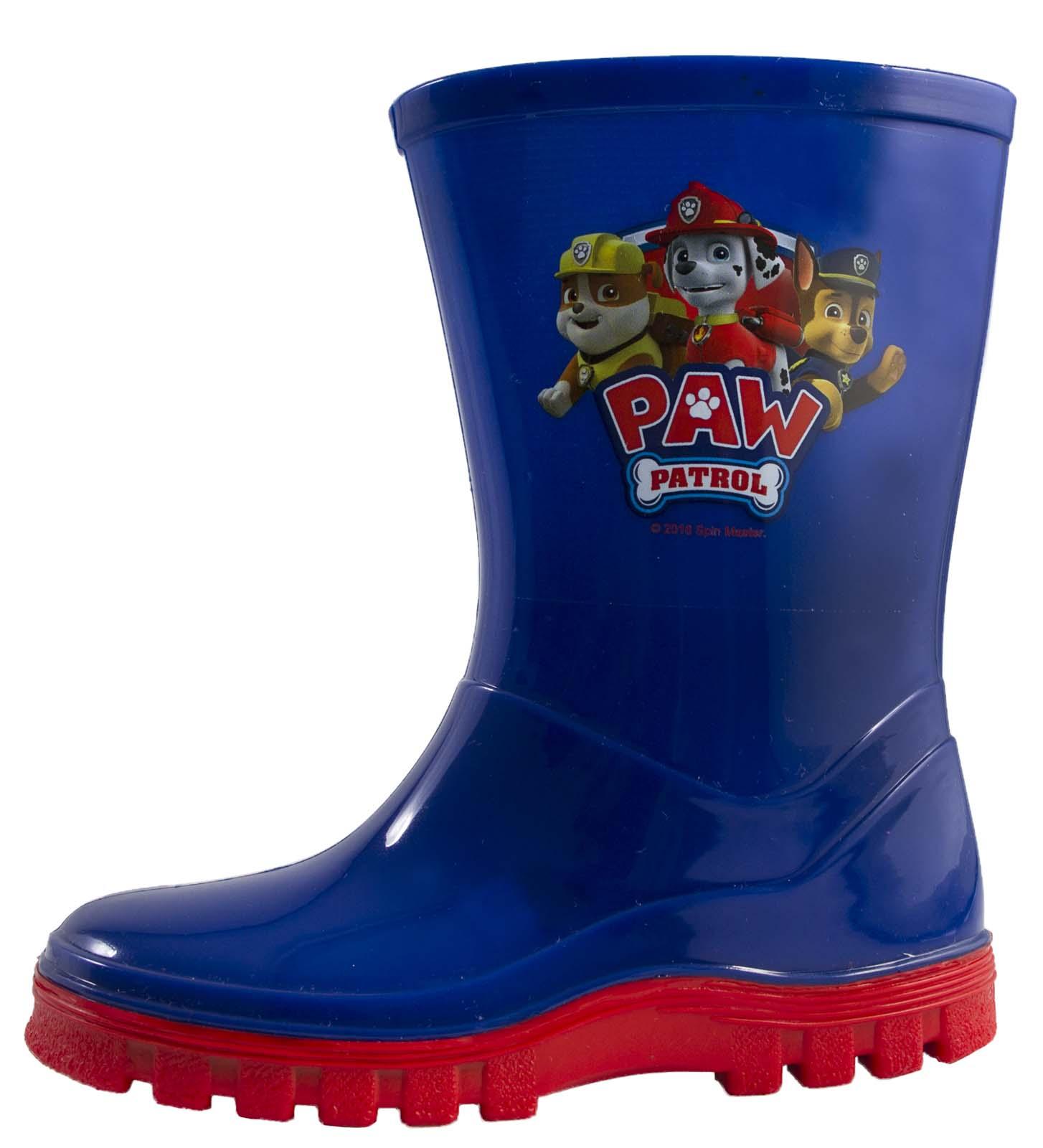 Paw Patrol Wellington Botas De Lluvia Botas De Agua Niños Niñas Nieve Mitad de Pantorrilla Botas Talla