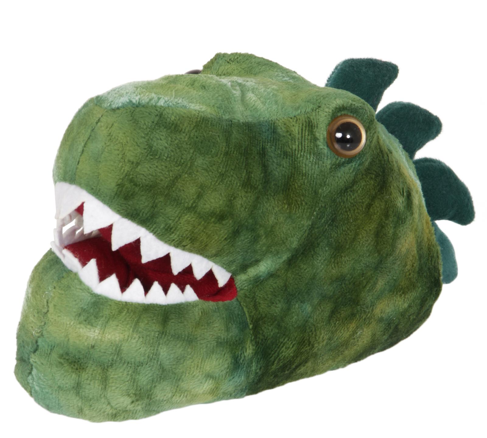 4c40251c11e1 Kids 3D Novelty Dinosaur Slippers Fleece Booties Dino Xmas Gift Boys ...