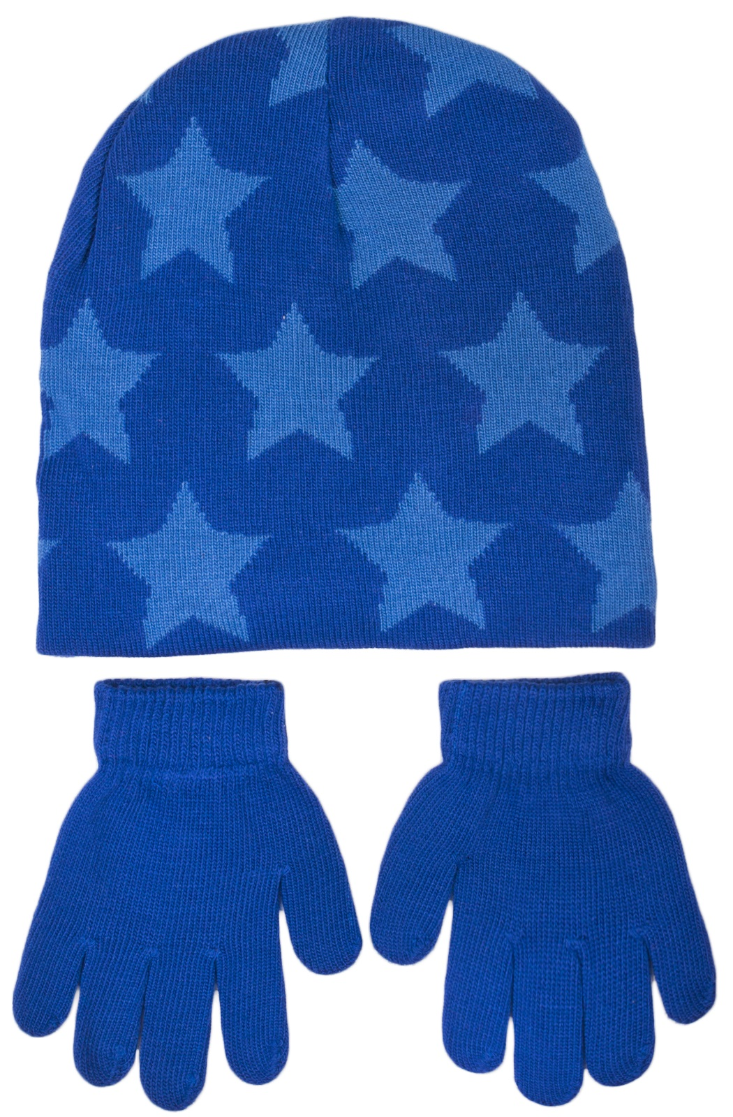 f5c4680ffad Boys Character Stretch Knitted Beanie Hat And Gloves Set Kids Warm ...