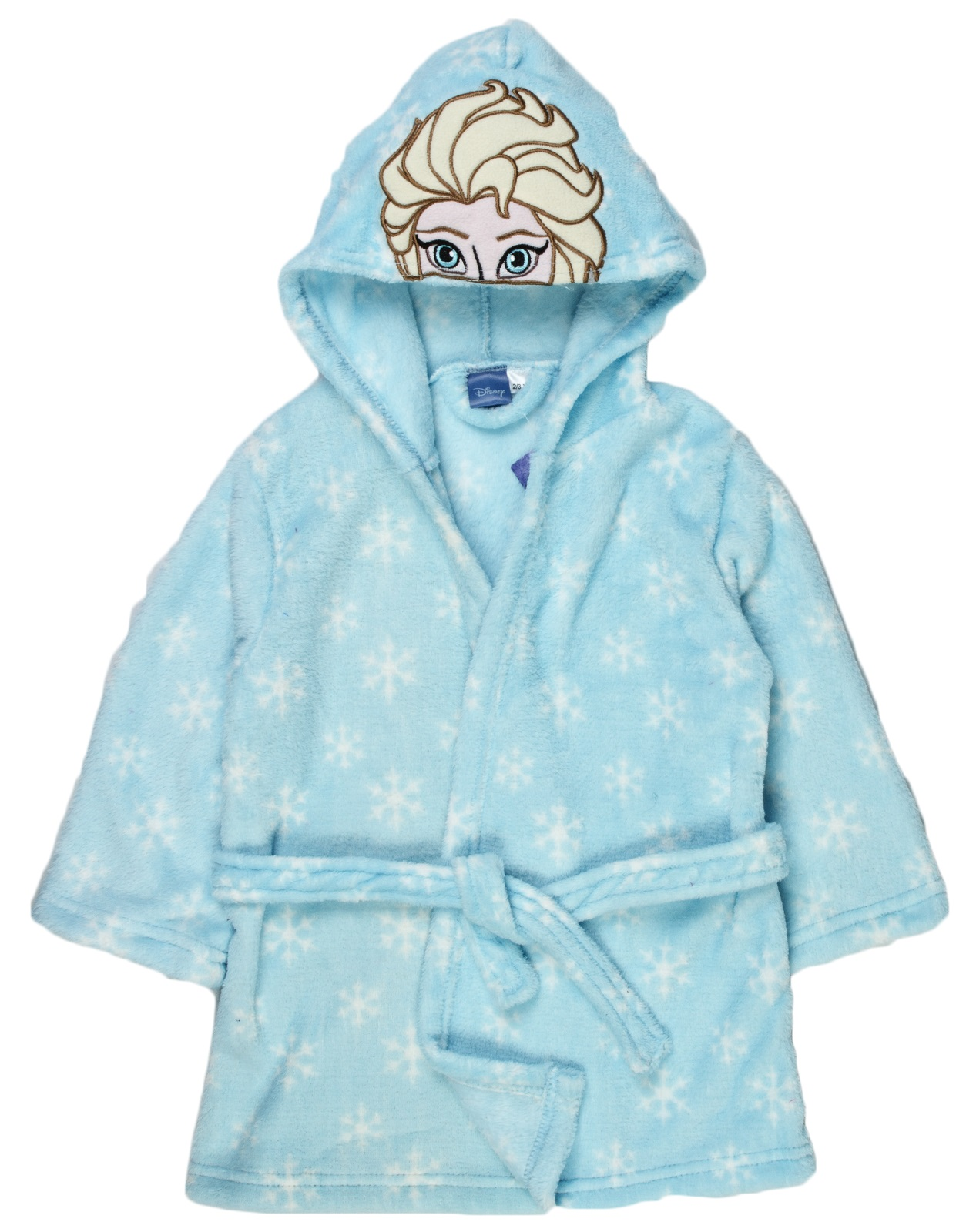 Girls Disney Frozen Hooded Fleece Dressing Gown Elsa Anna Bath Robe ...