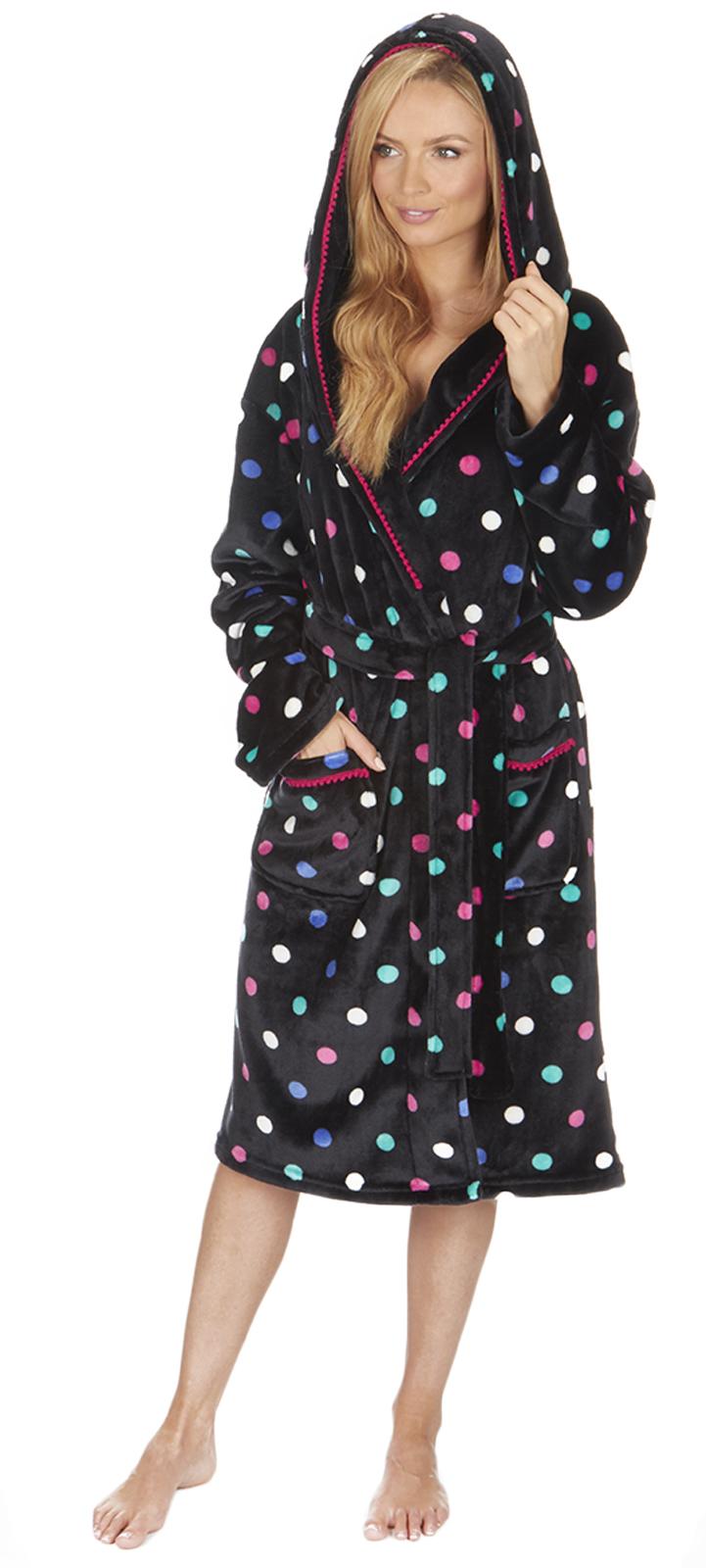 Womens Full Length Luxury Flannel Fleece Dressing Gown