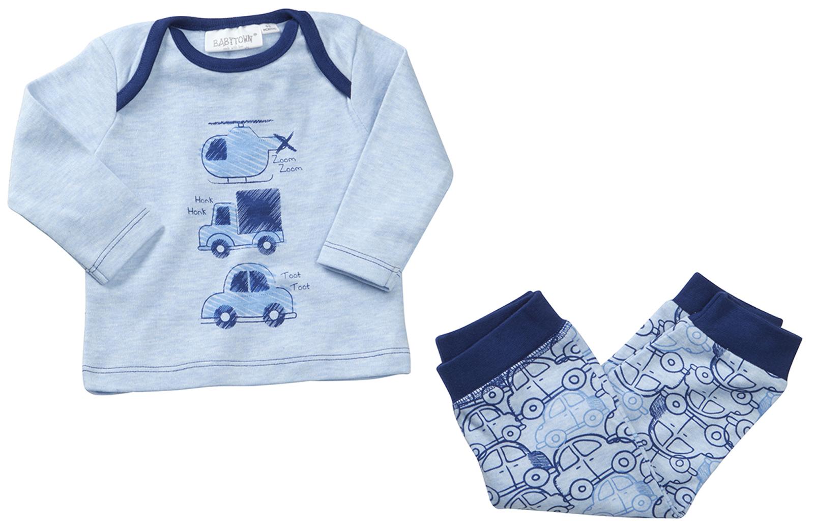 Baby Boys Pyjama Set 2 Piece Pjs Outfit Top Bottoms