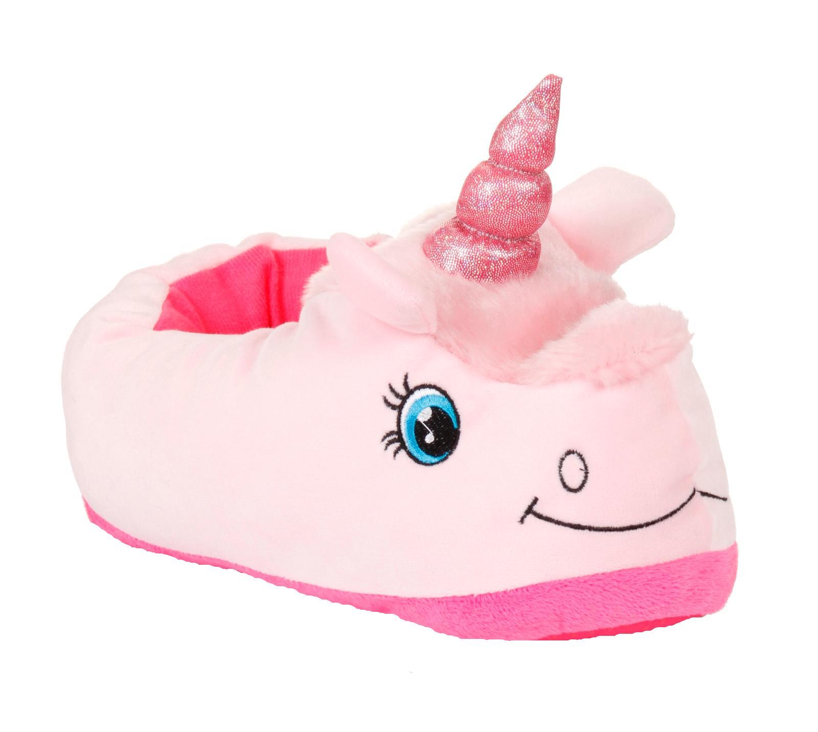 ce67440ae265 Womens Girls Novelty 3D Character Plush Unicorn Slippers Ladies Gift Size 10 -UK8