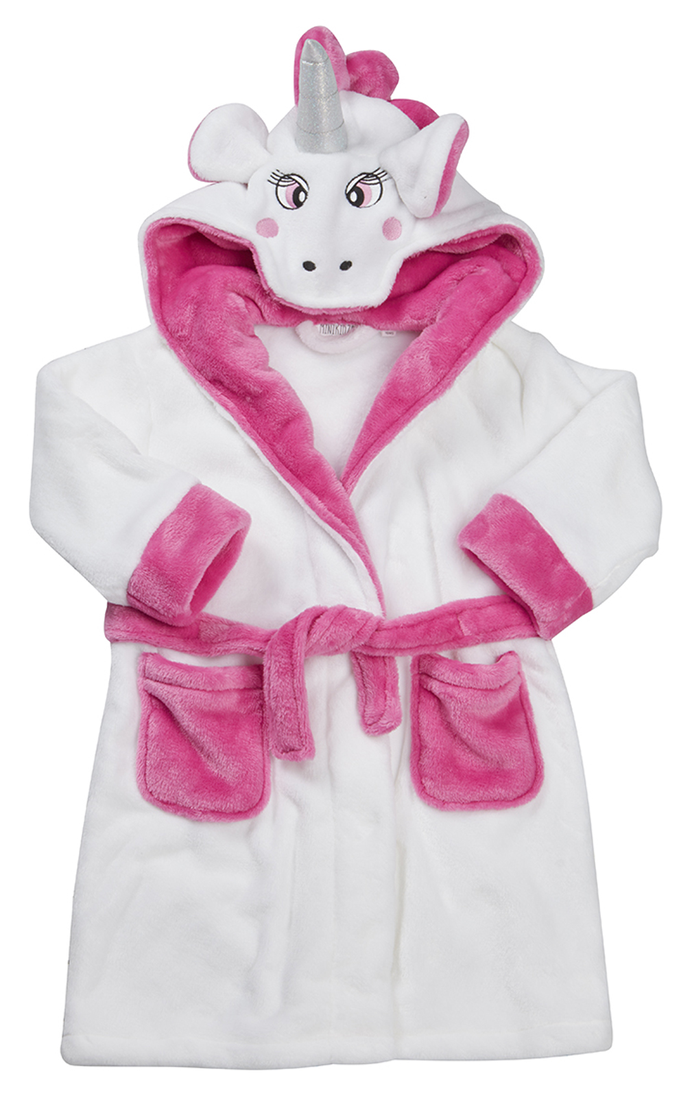 Girls Novelty 3D Dressing Gown Soft Fleece Bathrobe Housecoat Xmas ...