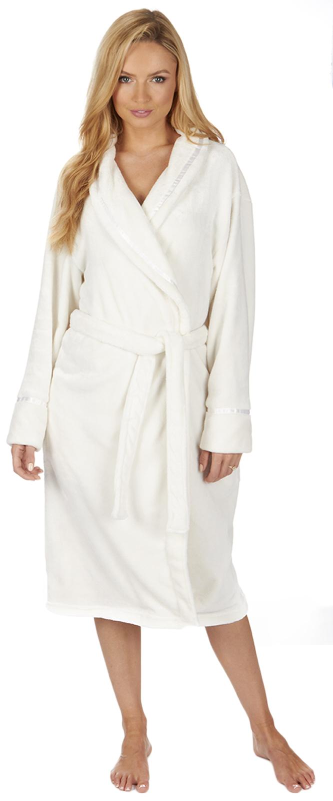 Luxury Womens Plus Size Flannel Fleece Dressing Gown Full