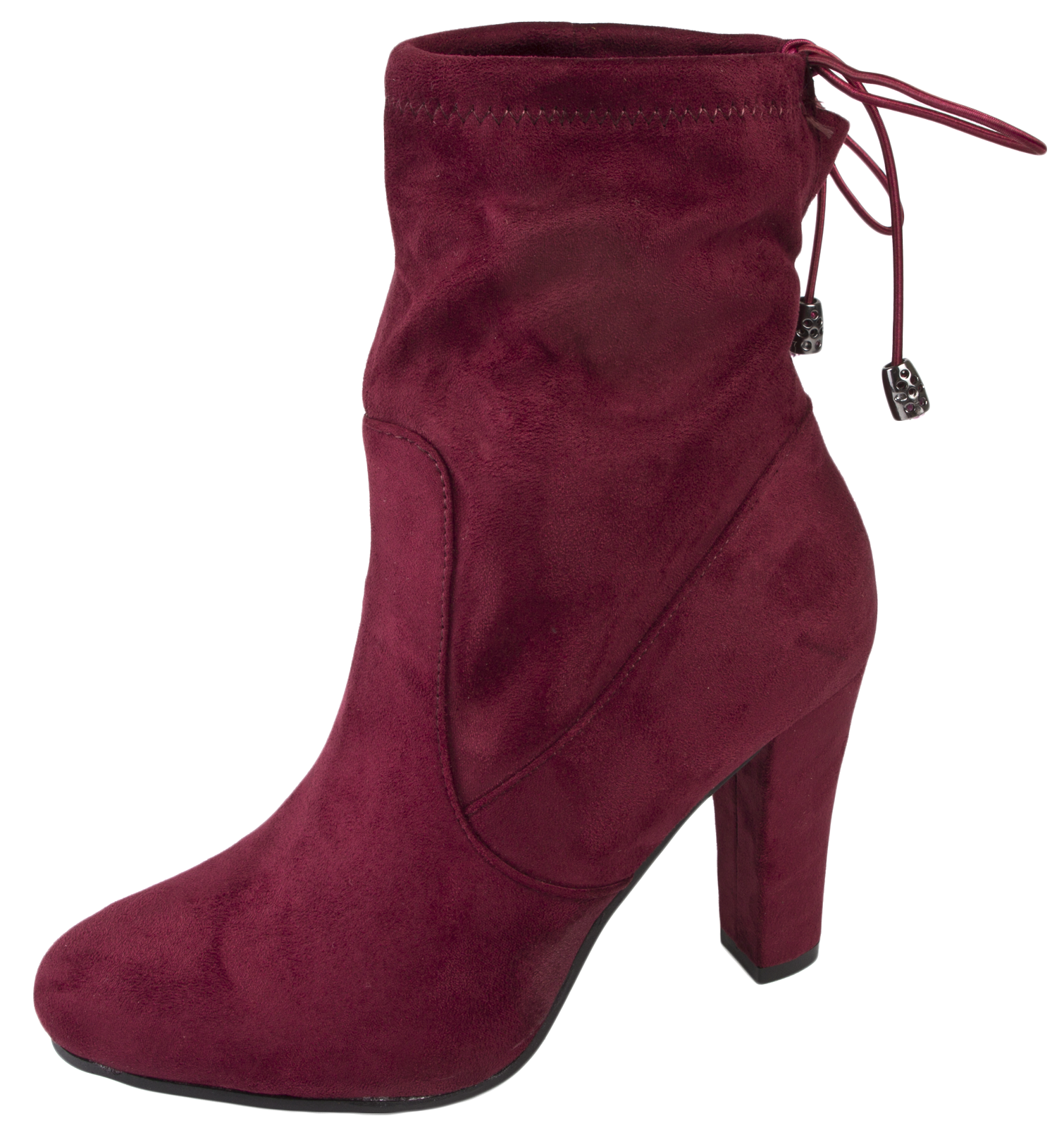 399df799790 Details about Womens High Heel Ankle Boots Adjustable Tie Top Faux Suede  Leather Ladies Size