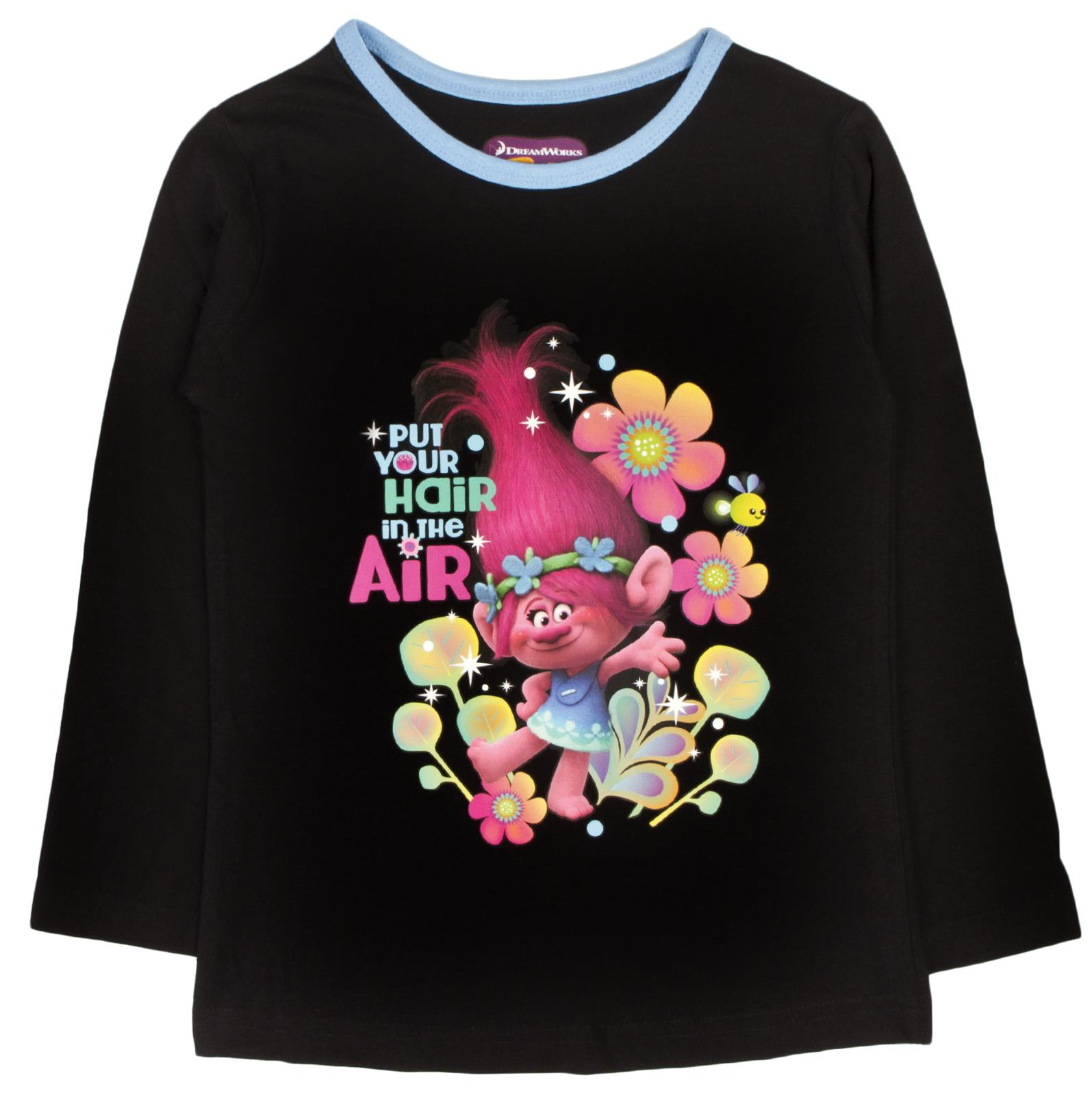 Girls Trolls Pyjamas Full Length Pink Poppy Branch