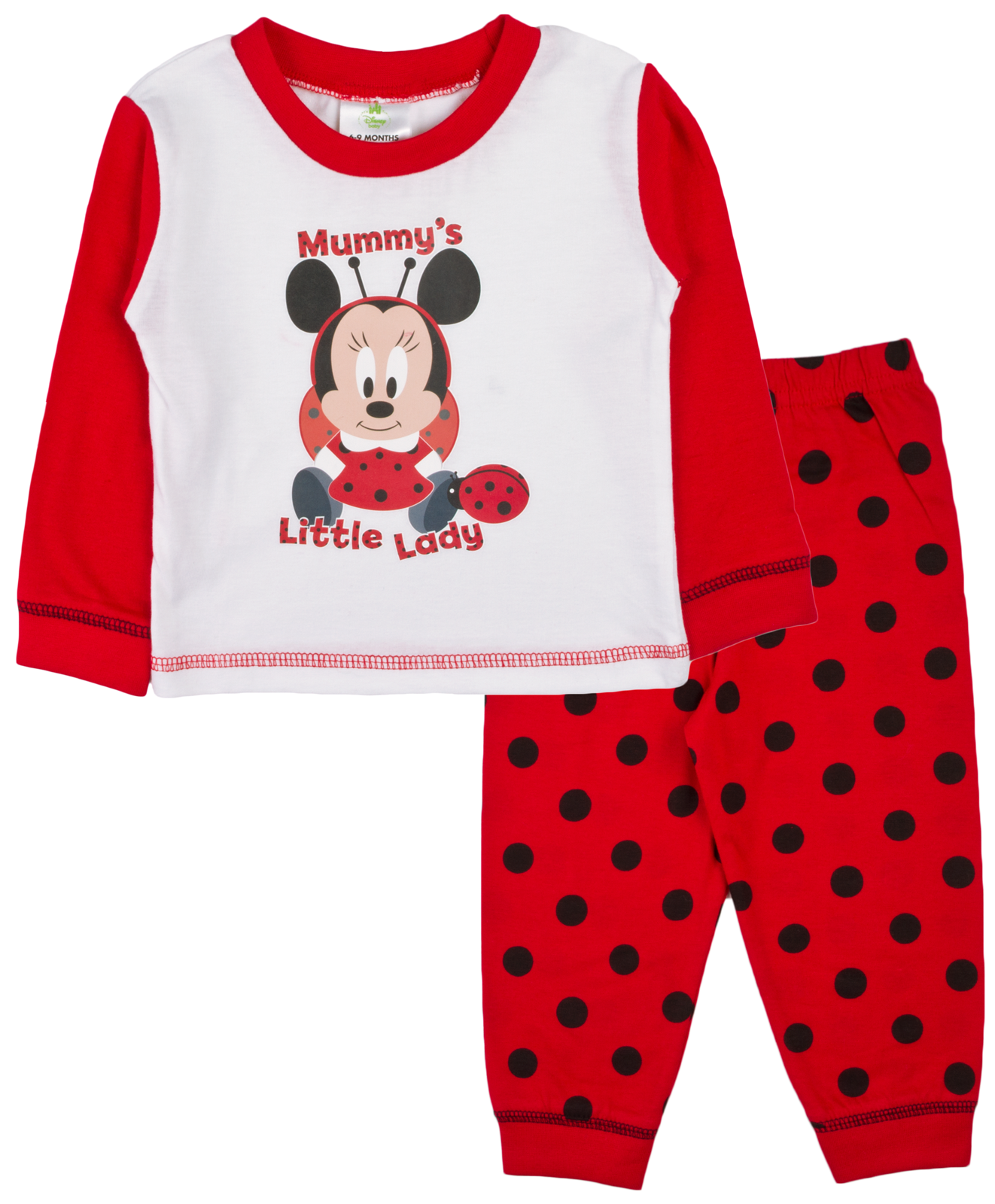 Baby Girls Pyjamas Kids Toddlers Disney Minnie Mouse Pjs Set Me To ... 82299a410