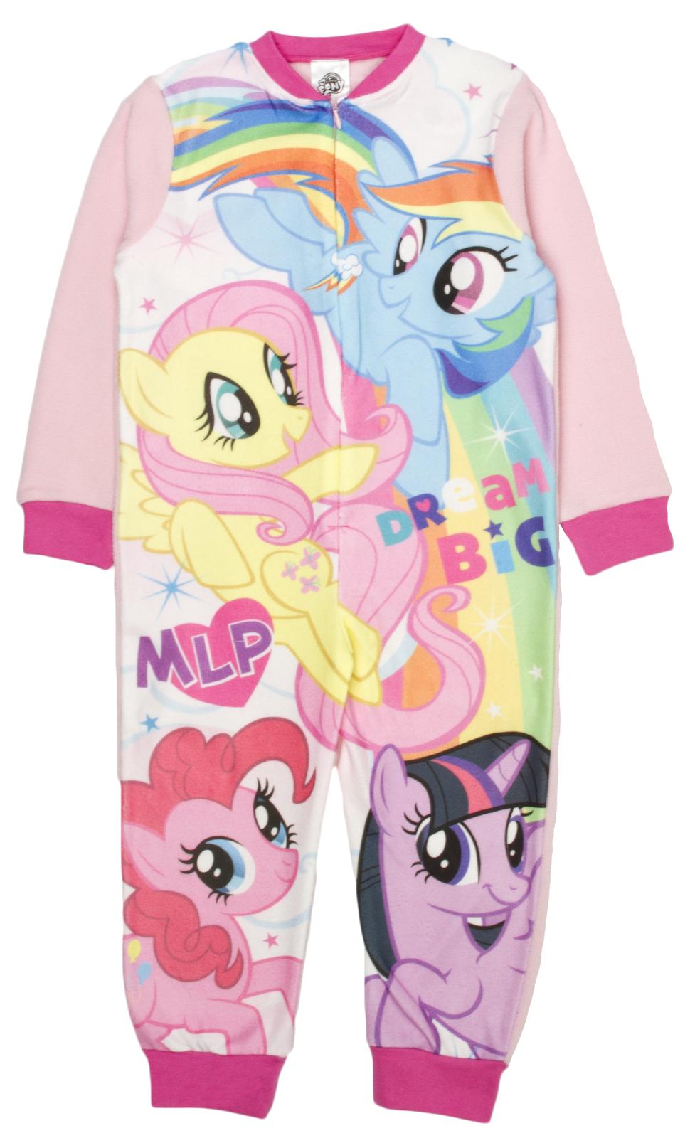 3cebde791f0a Girls My Little Pony Fleece Onezee MLP Novelty Dress Up Pyjamas PJ s ...