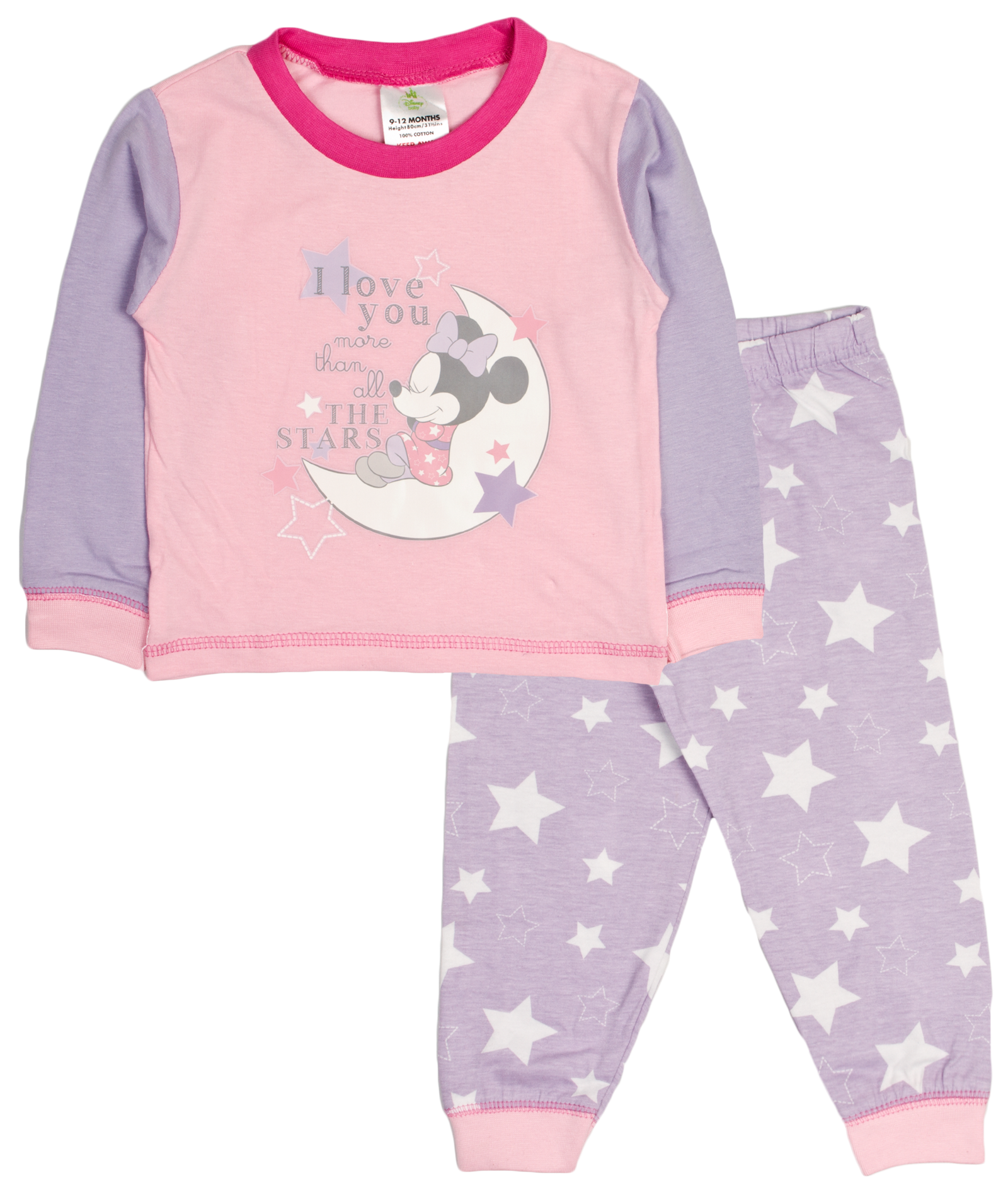 5d640a72d Baby Girls Pyjamas Kids Toddlers Disney Minnie Mouse Pjs Set Me To ...