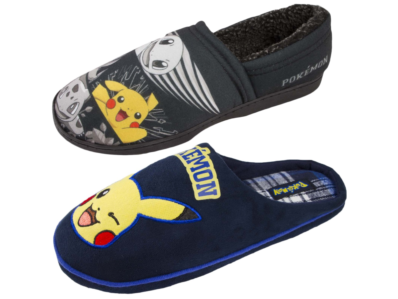 Mens Pokemon Slippers Pikachu Comfort Mules Novelty Indoort Shoes Gift Boys  Size d5eb33c450