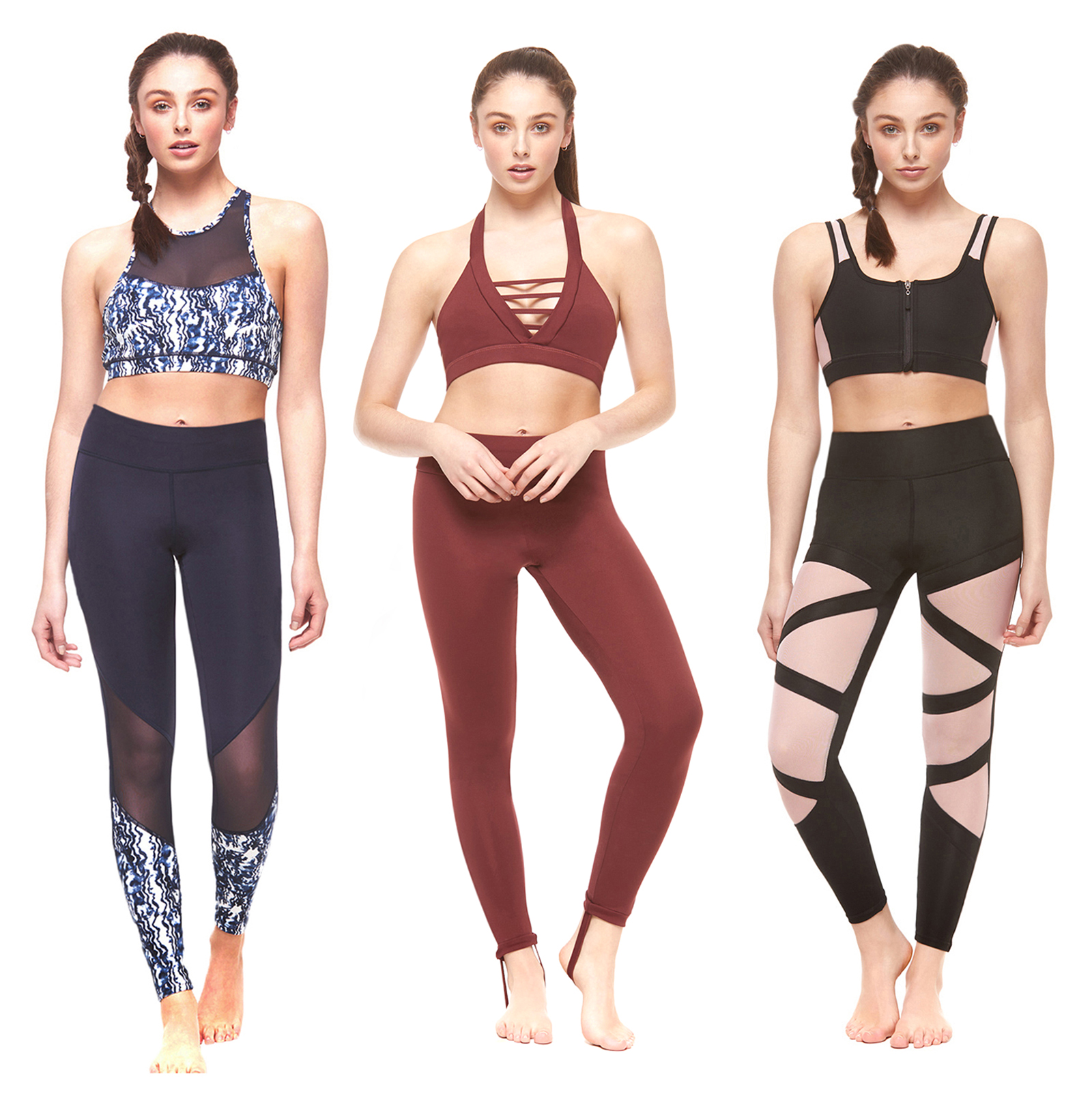 Ladies Vest Top Legging Gym Wear Set Womens Fitness Workout Yoga Sports Clothes