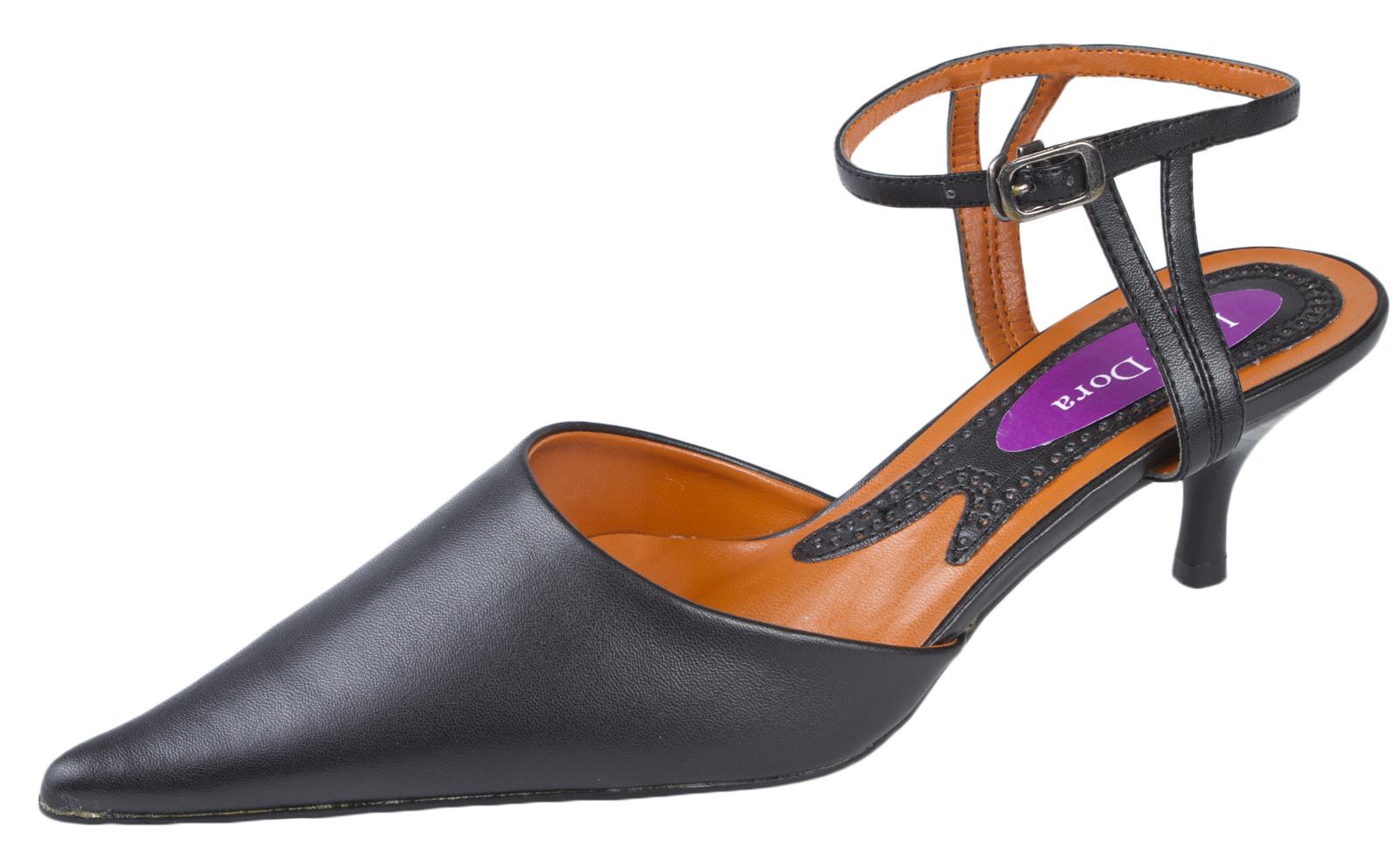 Black Suede Stiletto Court Shoes