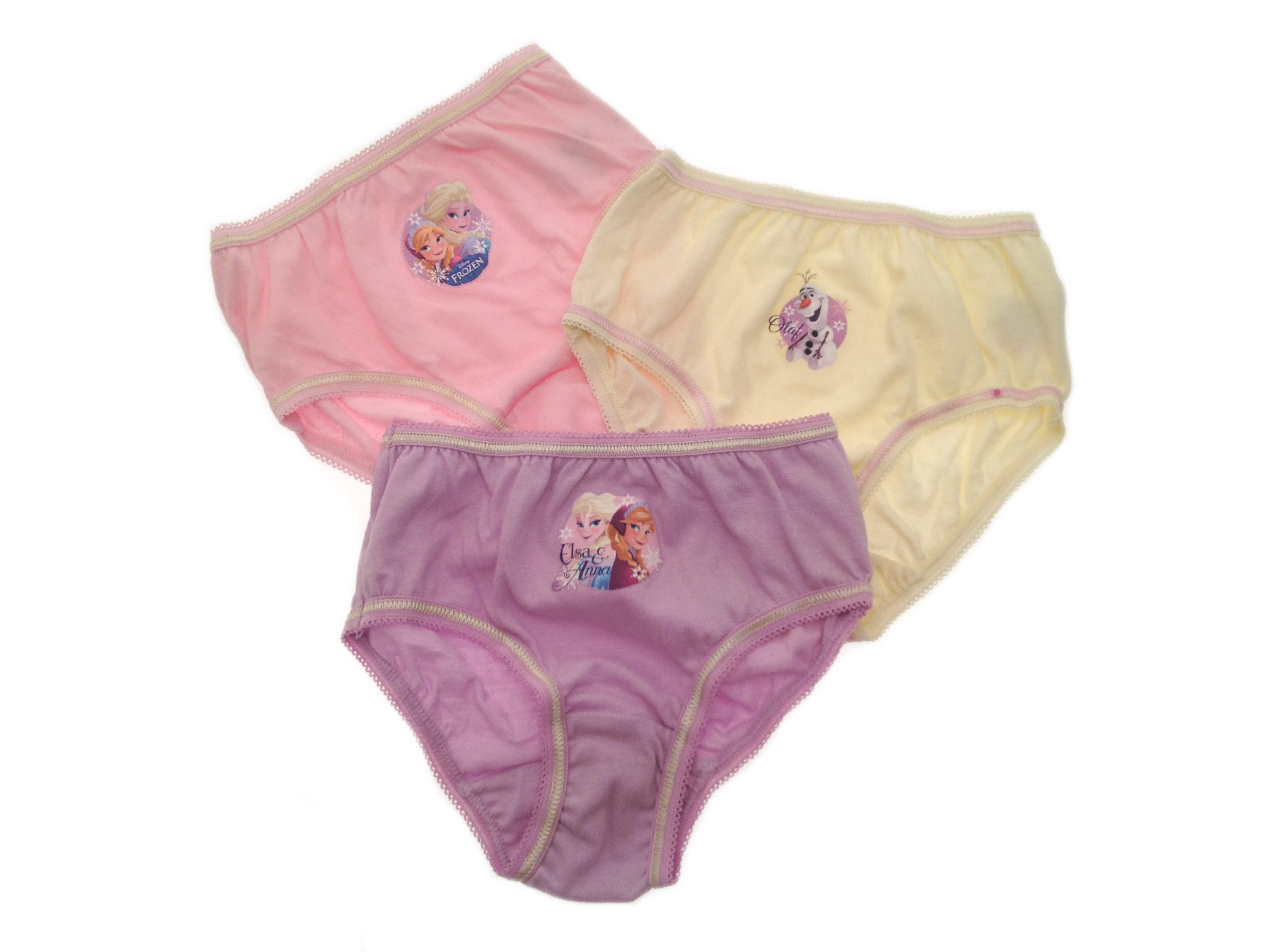 Girls Childrens Kids Character Knickers Briefs Pants 3 Pack Disney Frozen