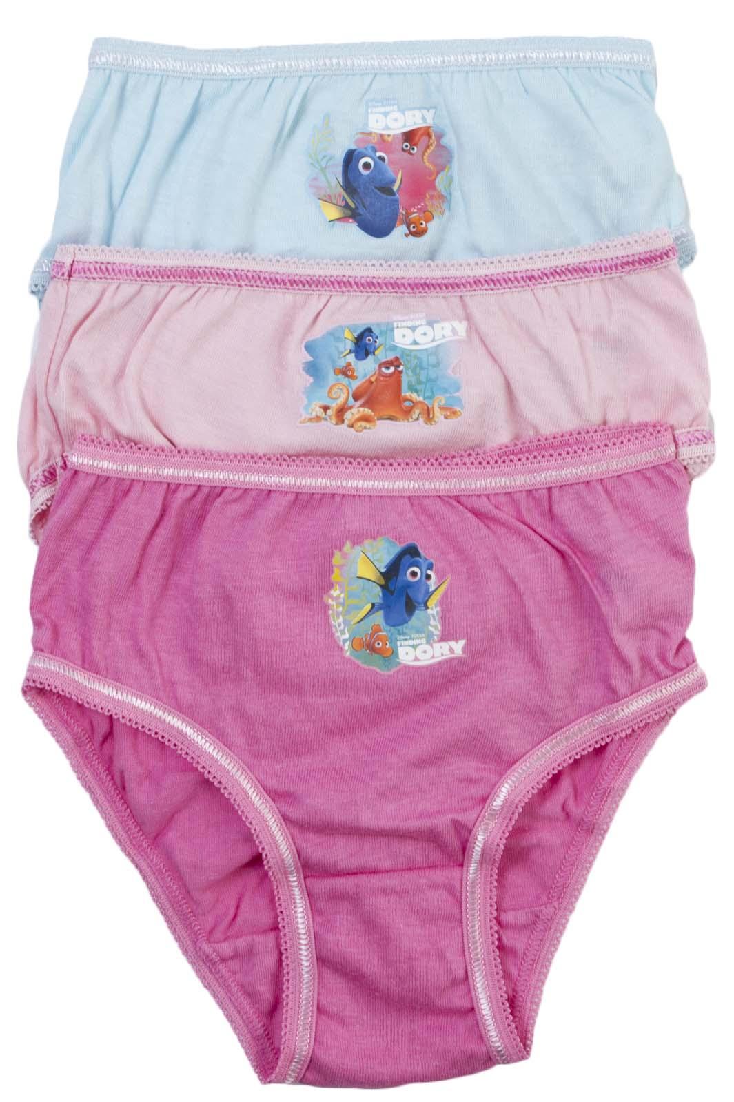 8db076f9cc2b 3 Pairs Girls Character Underwear 100% Cotton Knickers Briefs ...