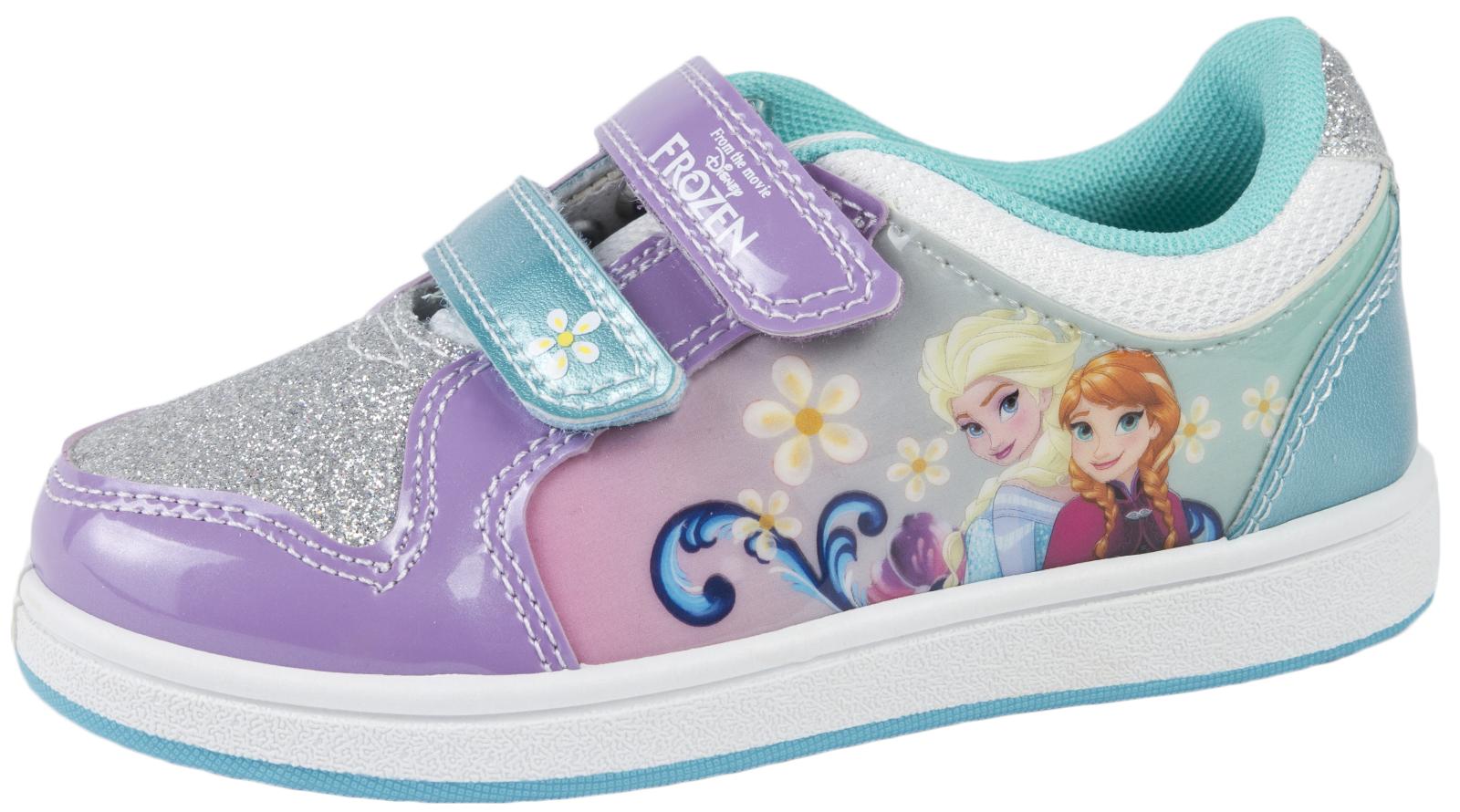 Girls Frozen Elsa Olaf Glitter Trainers Character Sports ...