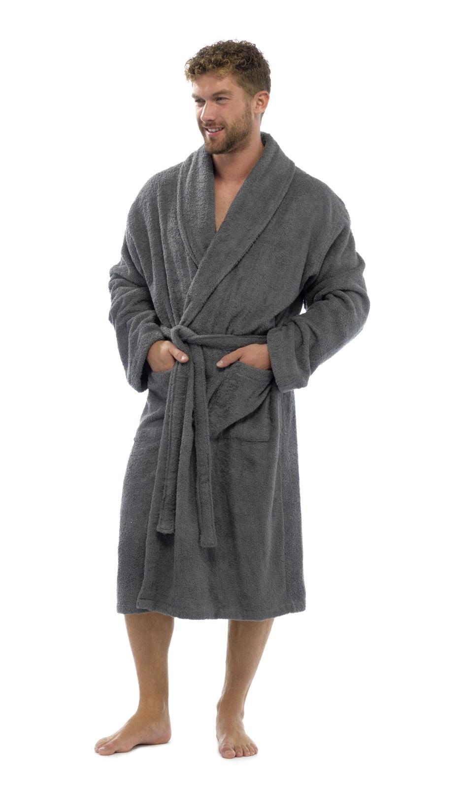 mens ladies 100 cotton towelling bath robe dressing gown. Black Bedroom Furniture Sets. Home Design Ideas