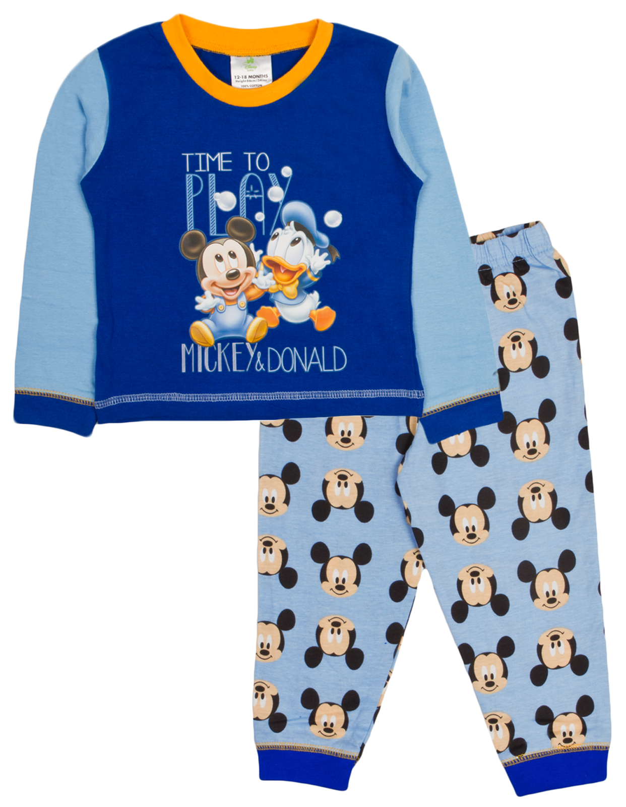 693c6c37e Baby Boys Girls Pyjamas Toddlers Disney Mickey Minnie Mouse Pjs Size ...