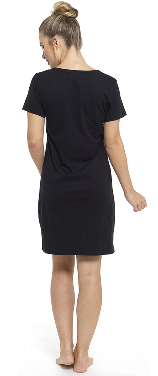 Womens Long   Short Sleeve Nightdress T Shirt Slogan Nighty Pyjamas ... 9421c4caa