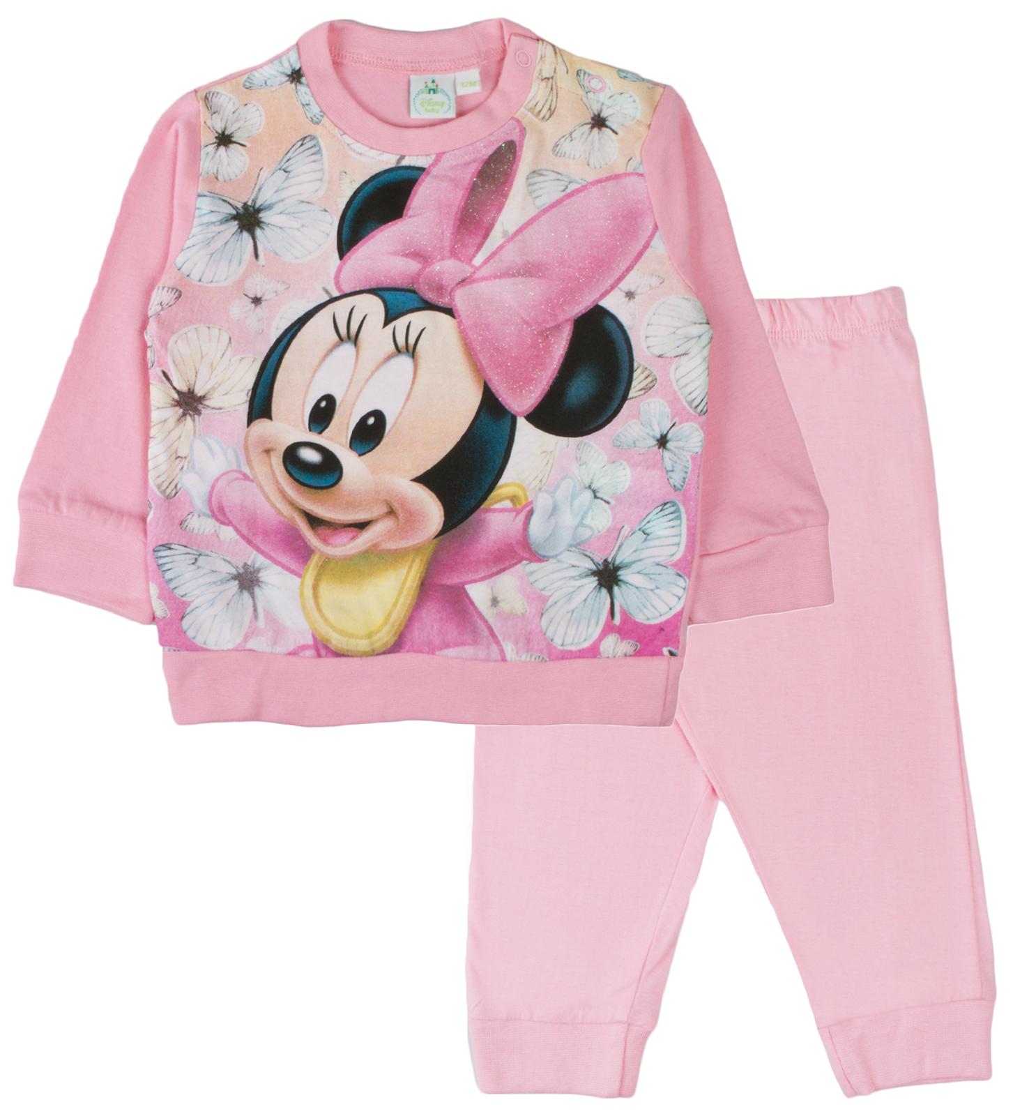 Filles Bébé Enfants Disney Officiel Minnie Mouse Pyjamas Pyjama 6-24 mois NEUF
