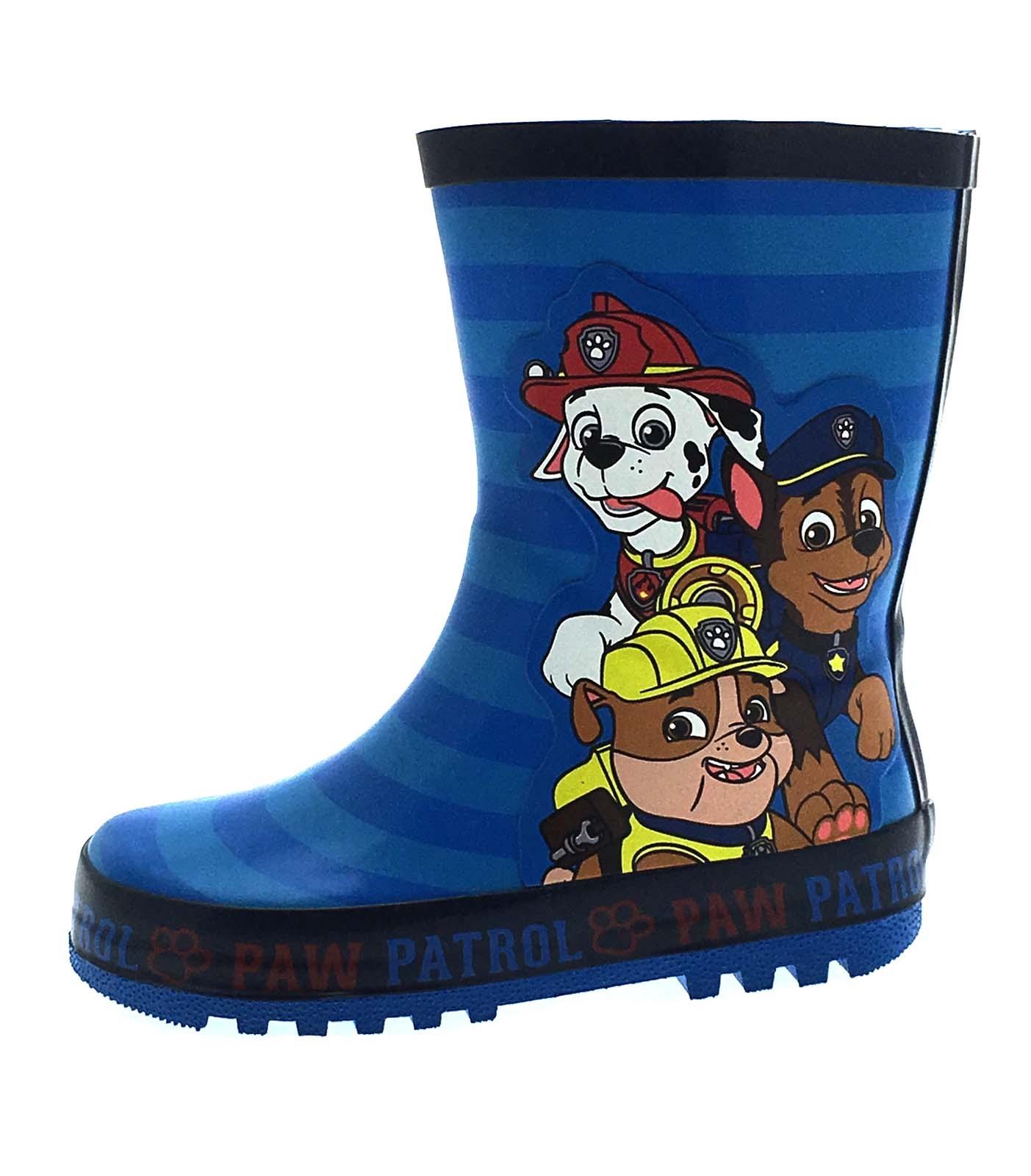 Kids Girls Boys Rubber Wellington Boots Snow Wellies Wellys Childrens Size 4 - 3
