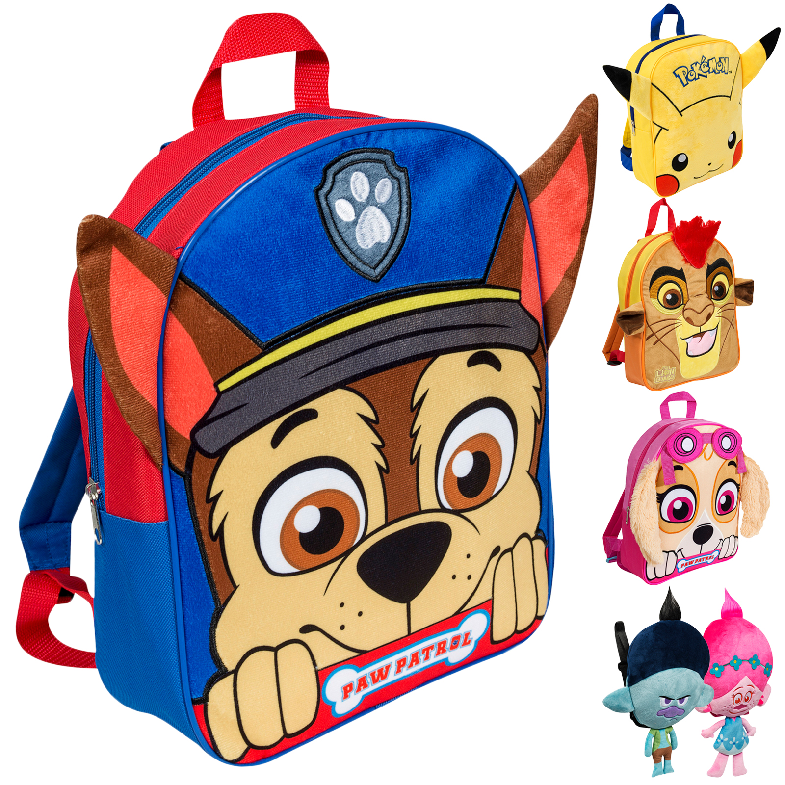 d7e0c983b27a Kids Plush Character Backpack 3D Ears Back to School Bag Kids Rucksack Book  Bag