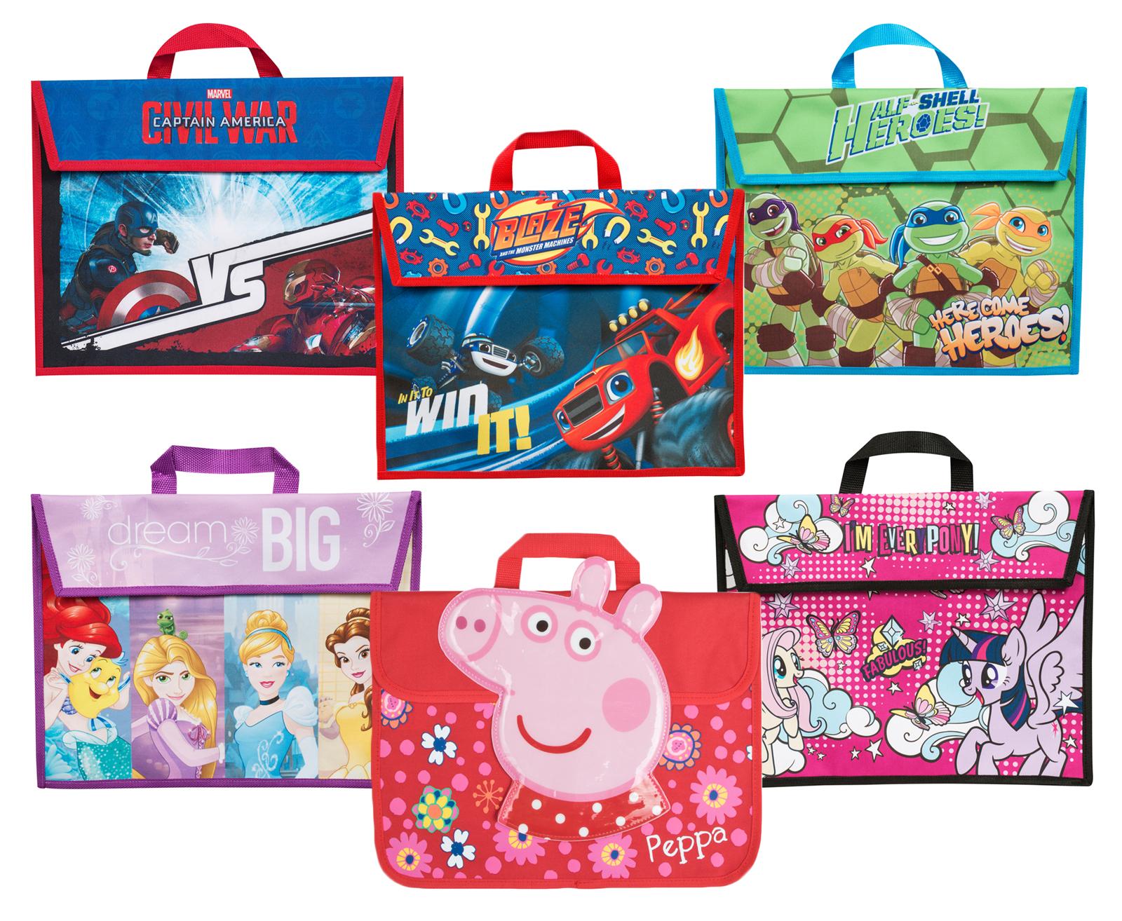 kids character book bag boys girls childrens back to school