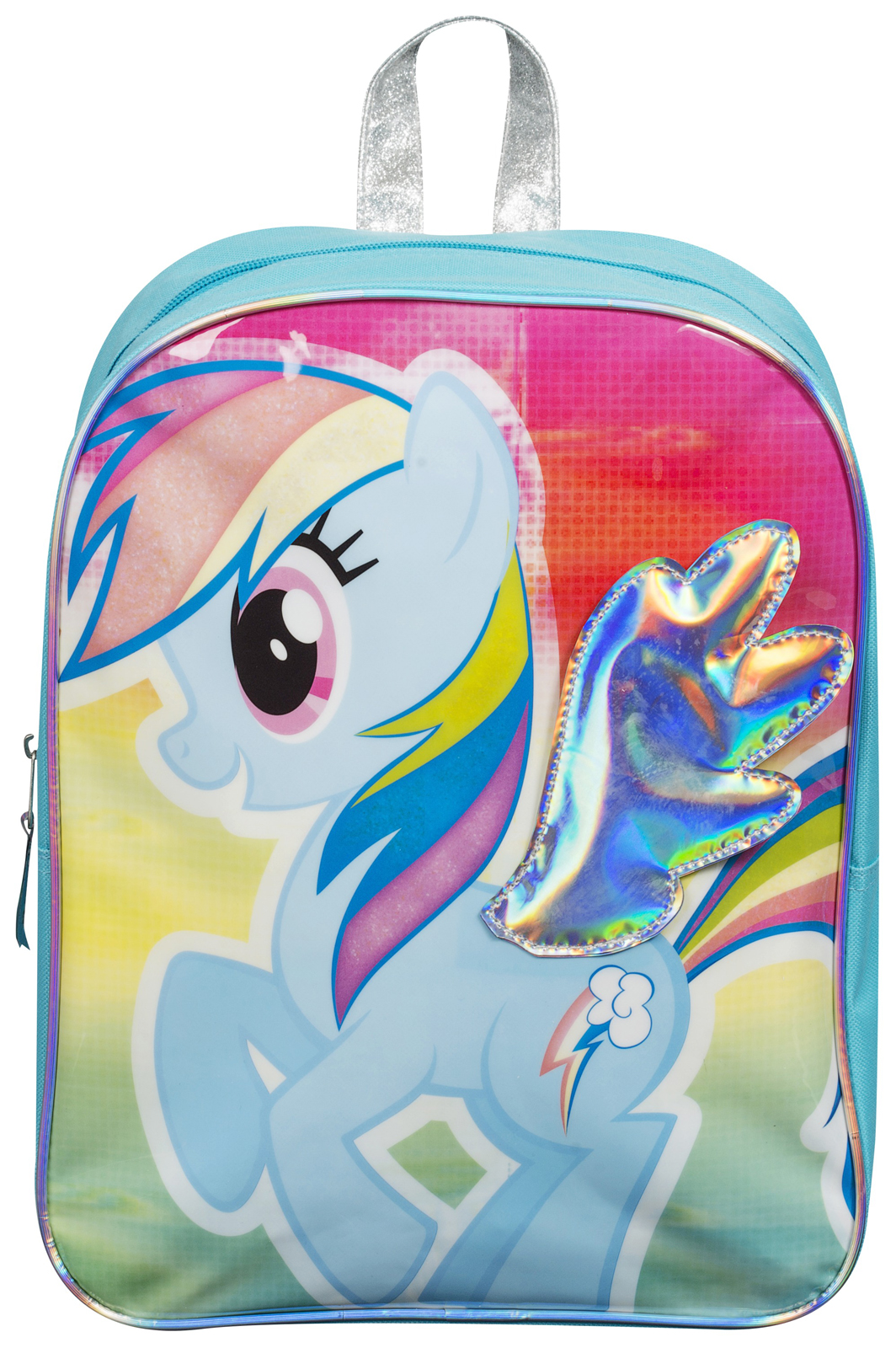 girls my little pony 3d backpack rainbow dash kids school. Black Bedroom Furniture Sets. Home Design Ideas