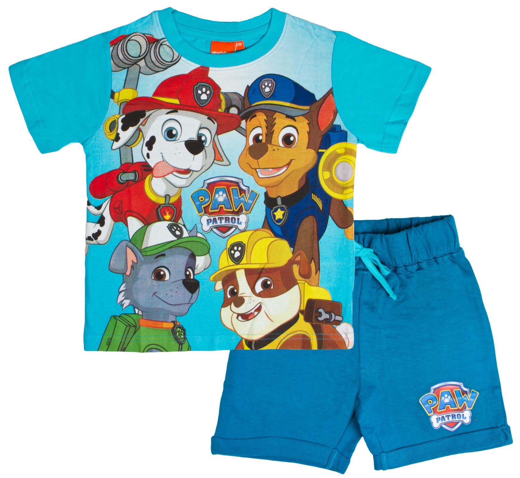 Paw Patrol Boys T Shirt Shorts