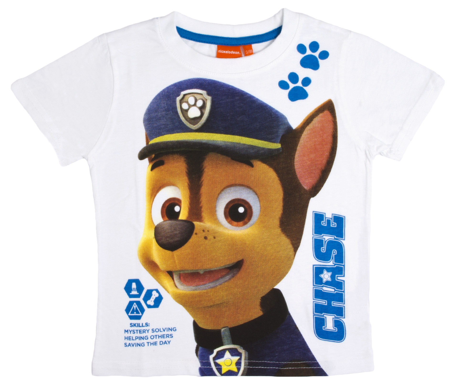 29a73cb1594d8 Boys Paw Patrol Short Sleeved T Shirt Chase Marshall Character Top ...