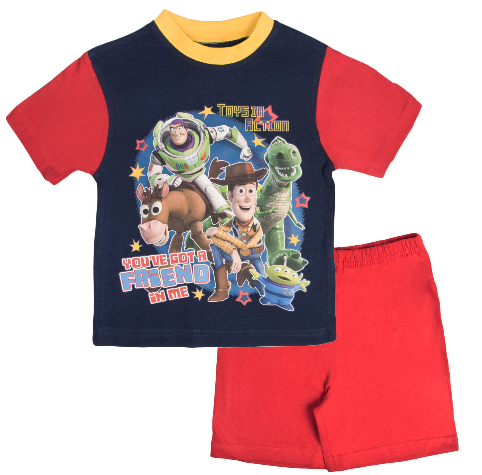 Toy Story Pyjamas Boys Short Pjs Woody Buzz Lightyear Rex ...