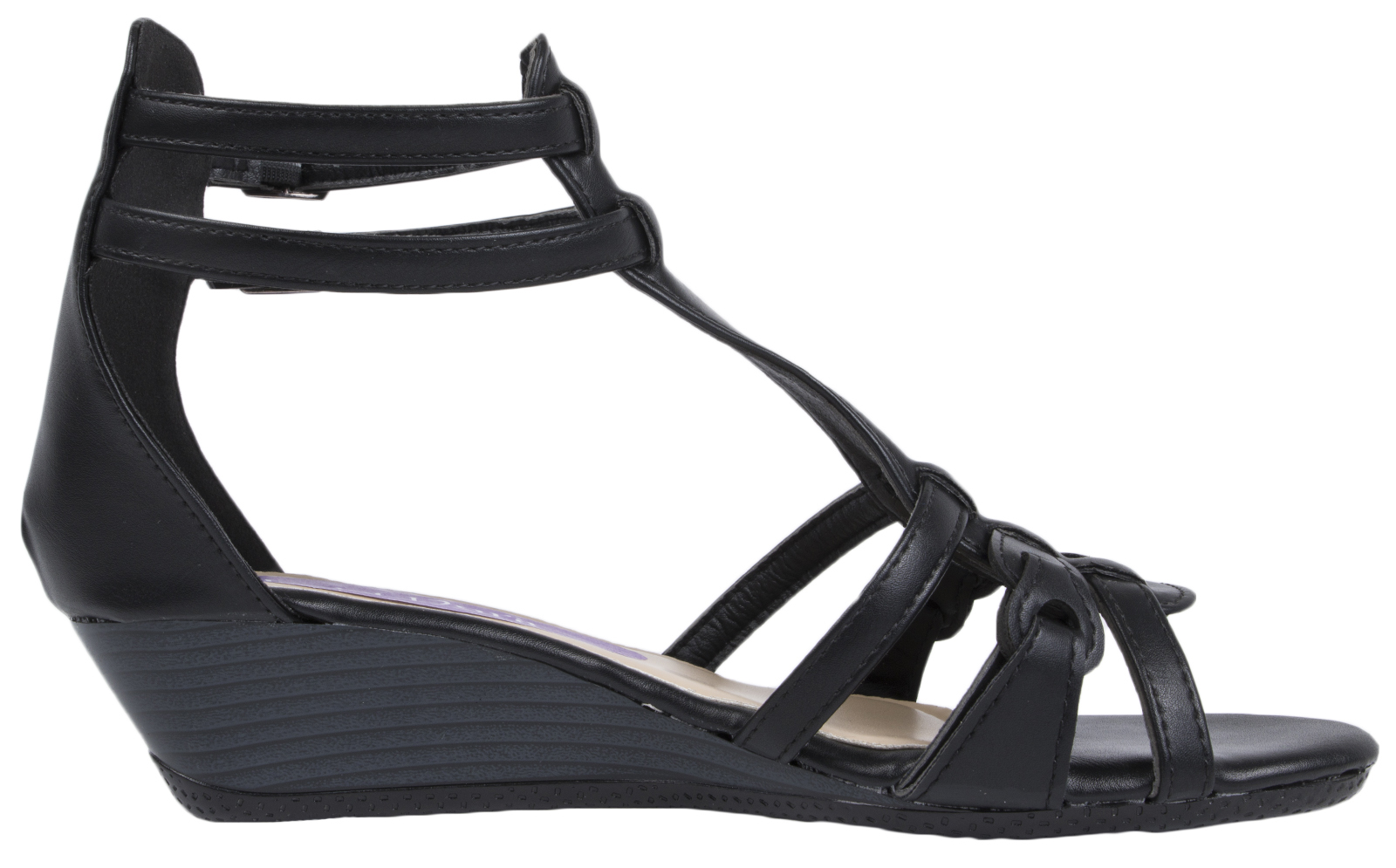 Womens Stry Wedge Sandals Low Heel Summer Shoes