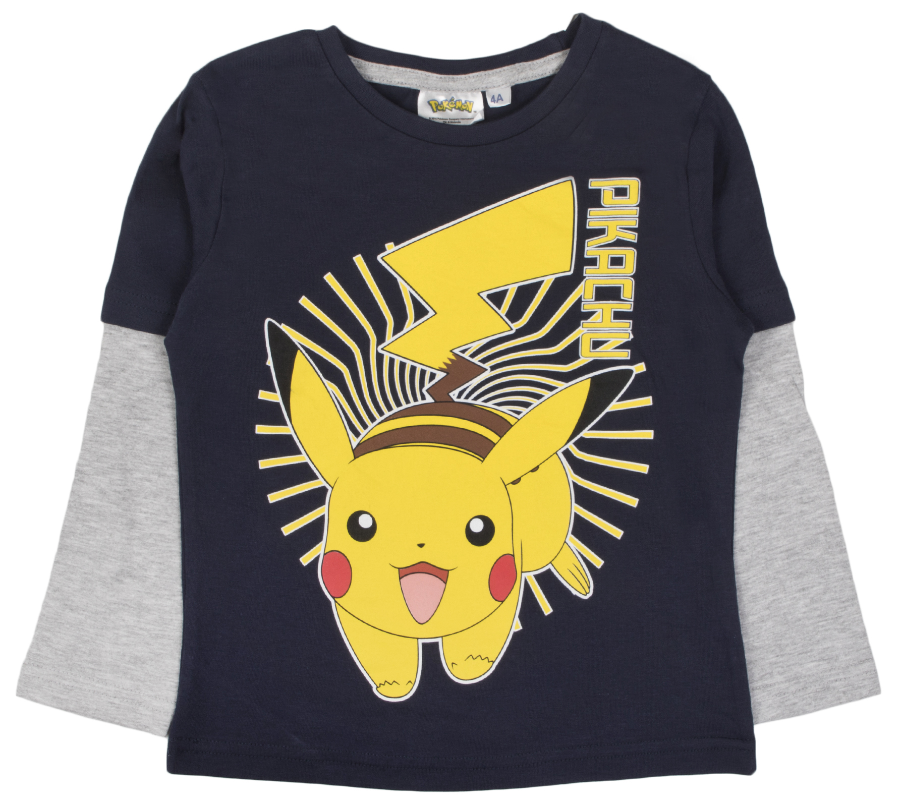 6008310f296 Boys Pokemon Long Sleeve Top 100% Cotton T Shirt Beach Summer Shirt ...