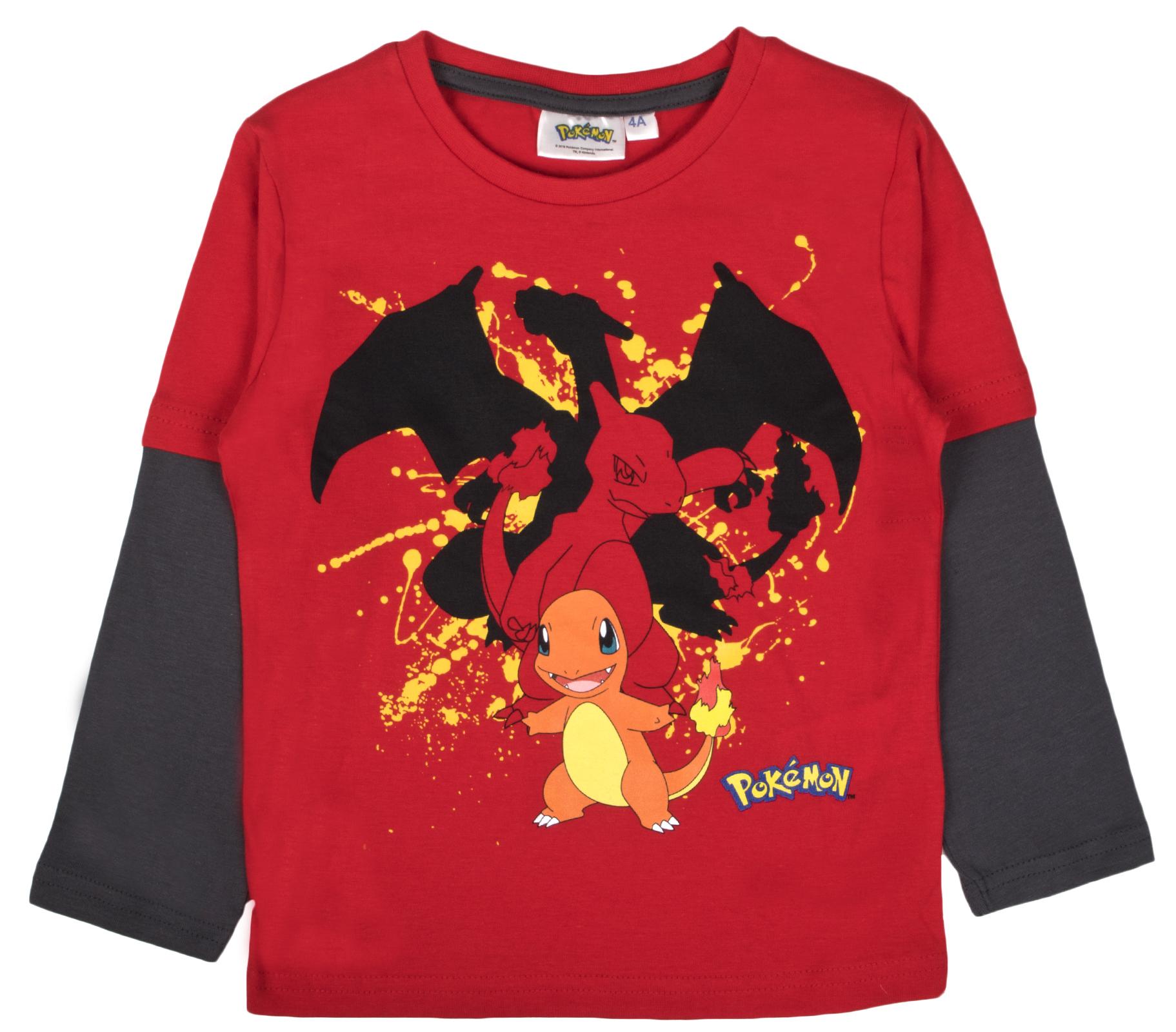 5332f42dd Boys Pokemon Long Sleeve Top 100% Cotton T Shirt Beach Summer Shirt ...