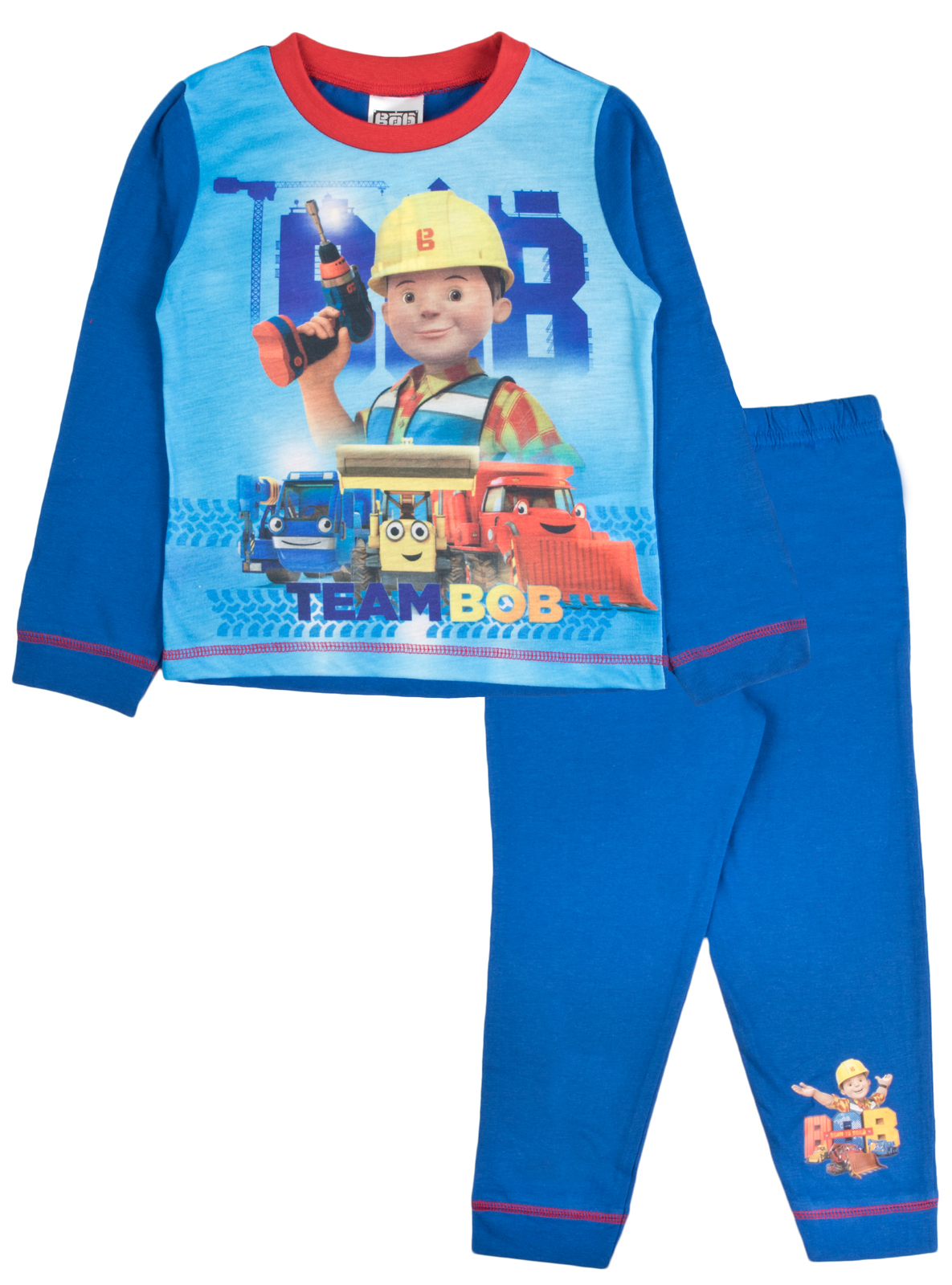 BOB THE BUILDER PYJAMAS BOYS CHILDRENS CHARACTER SLEEPWEAR NIGHTWEAR SET NEW
