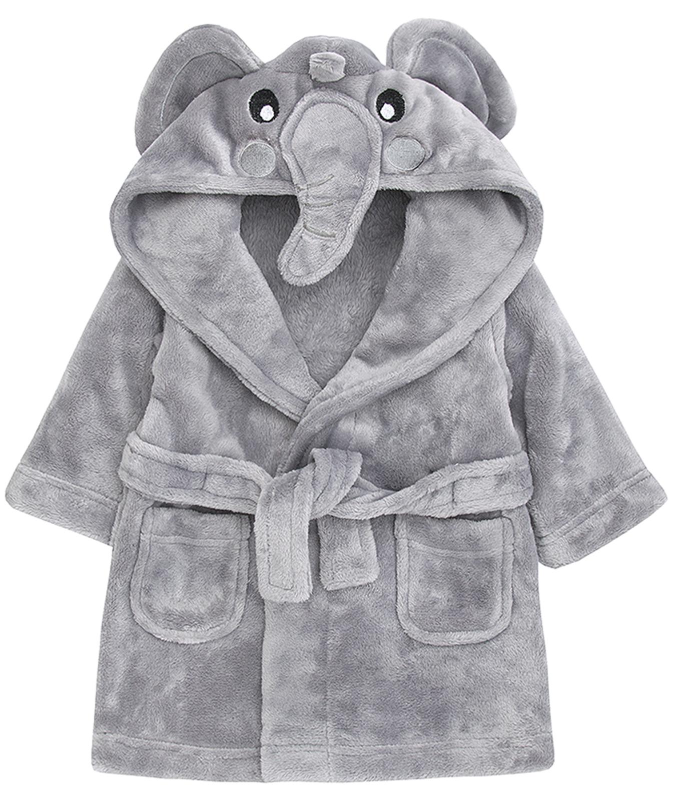 Baby Girls Boys Novelty 3D Hooded Animal Dressing Gown Bath Robe ...